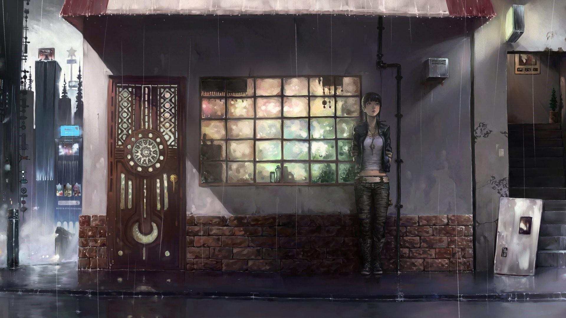 Anime Rain wallpaper picture hd