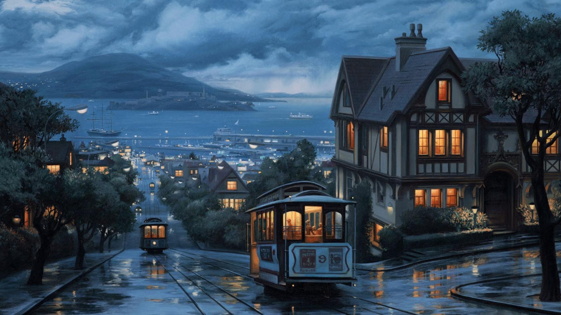 Anime Rain Nice Wallpaper