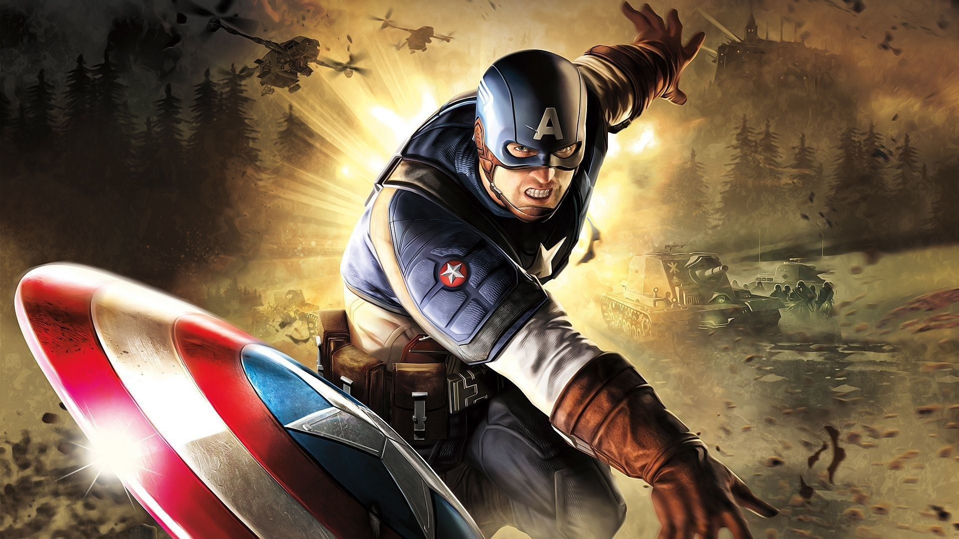 Captain America full hd 1080p wallpaper