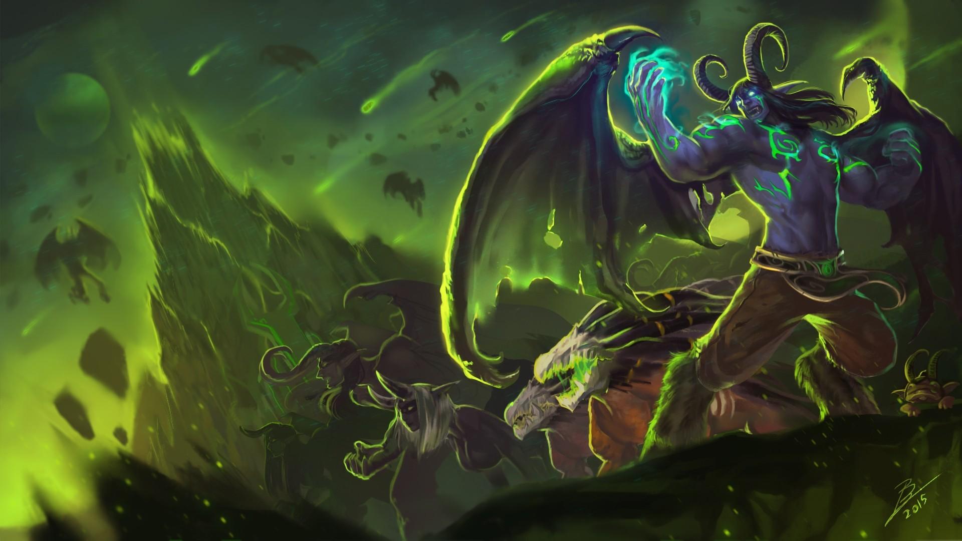 Demon Hunter Background Wallpaper
