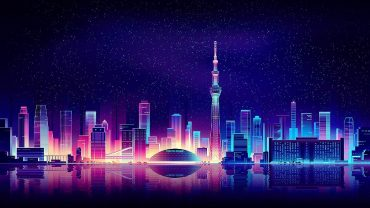 Neon City Nice Wallpaper
