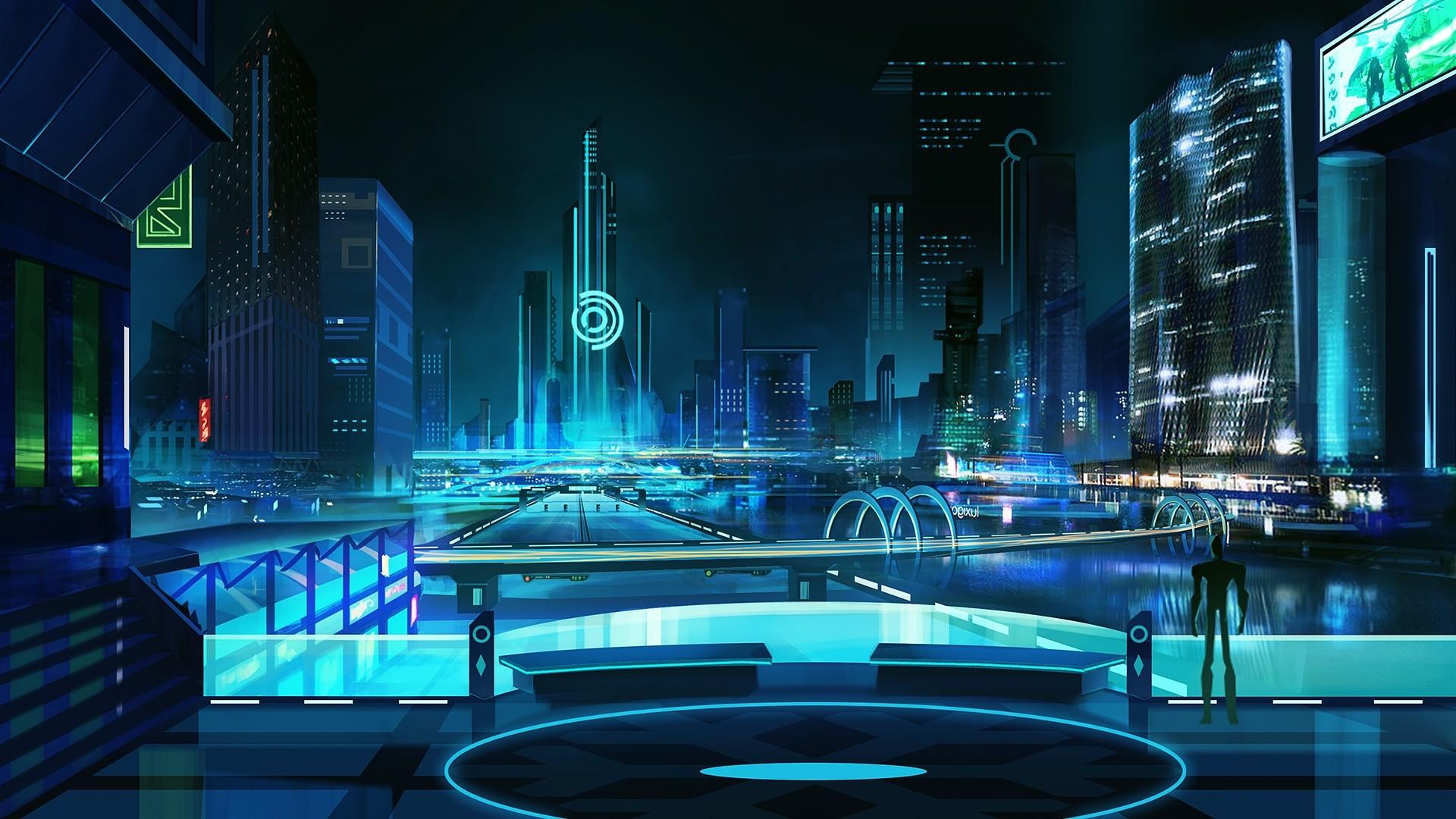 Neon City computer Wallpaper
