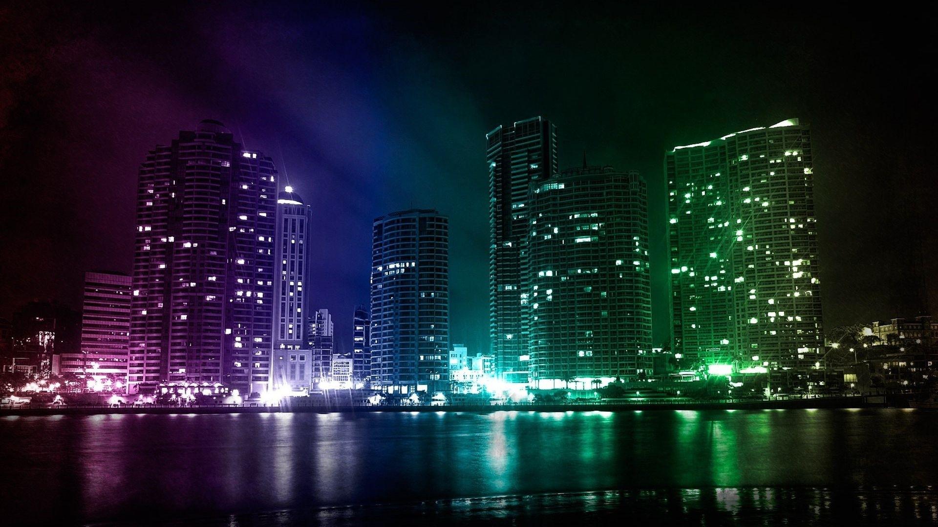 Neon City PC Wallpaper HD