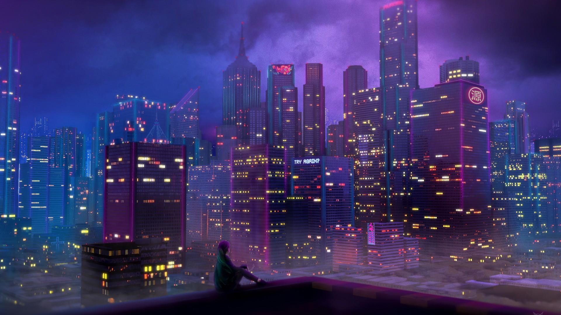 Neon City wallpaper photo