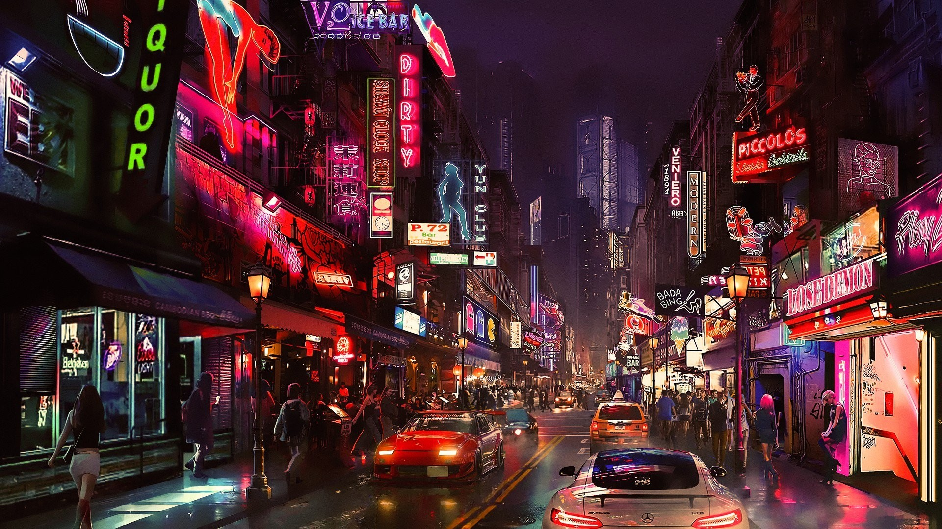 Neon City pc wallpaper