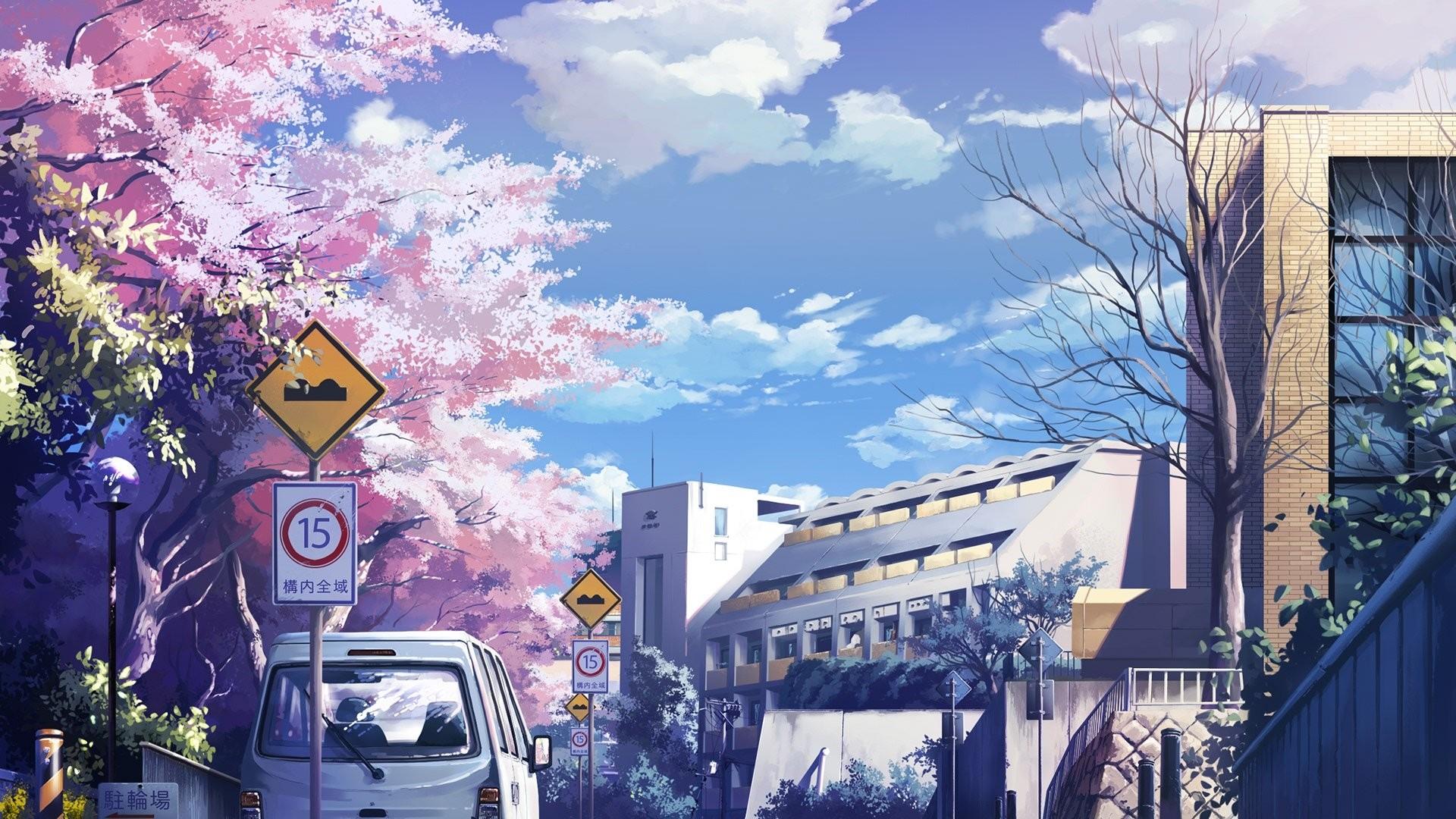 Aesthetic Anime Background Wallpaper