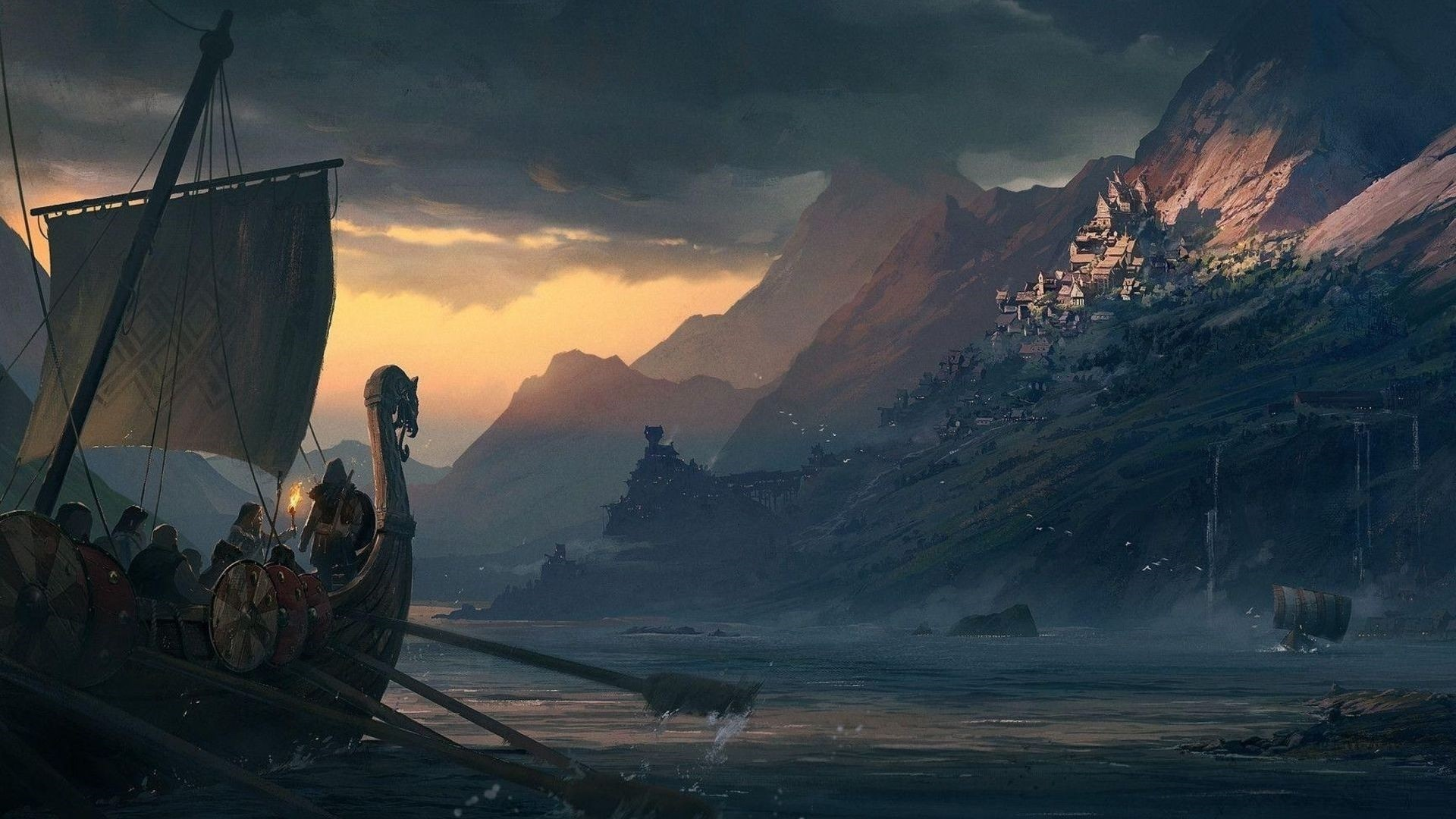 Assassins Creed Valhalla Background Wallpaper