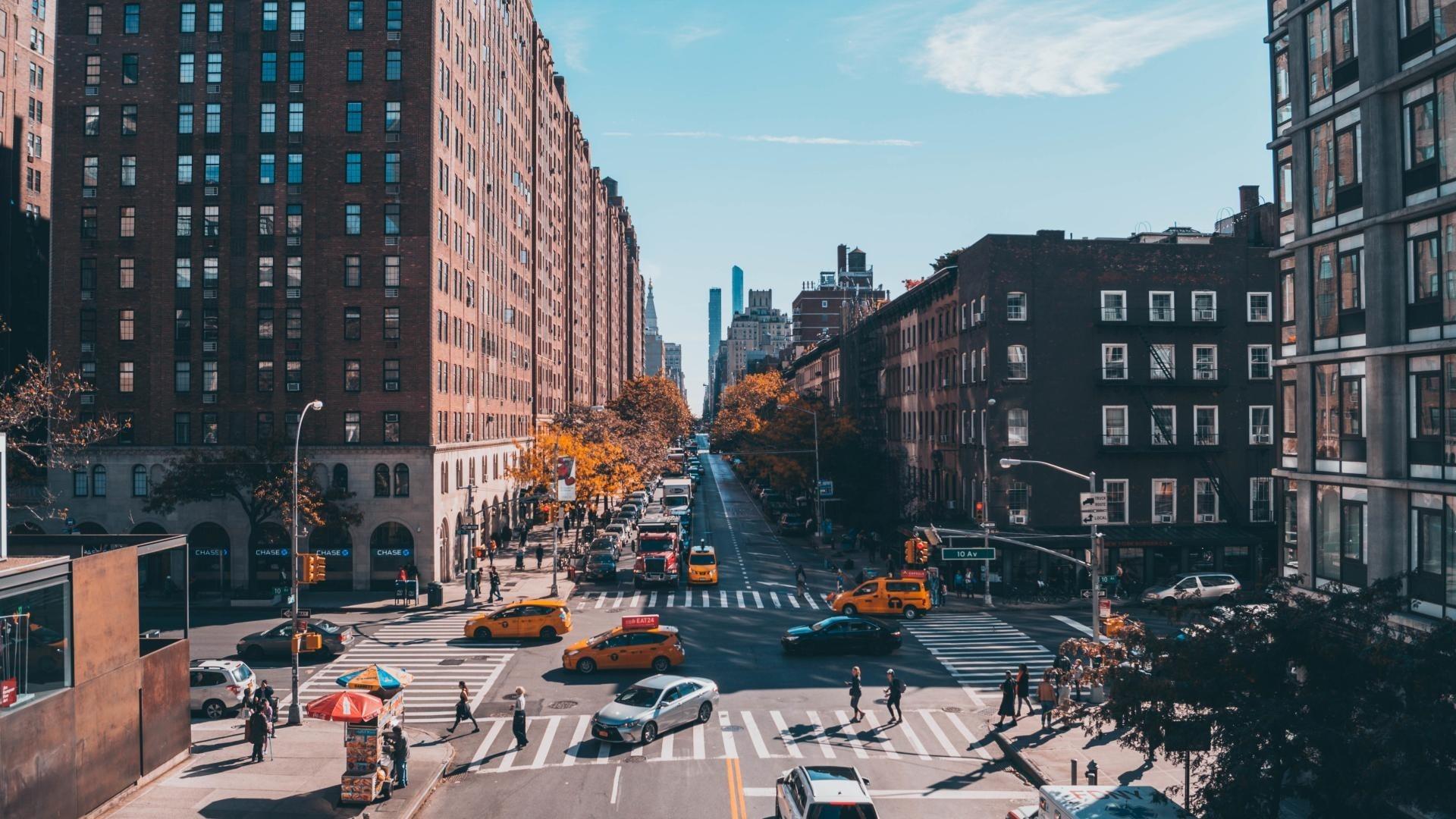 New York Street computer wallpaper