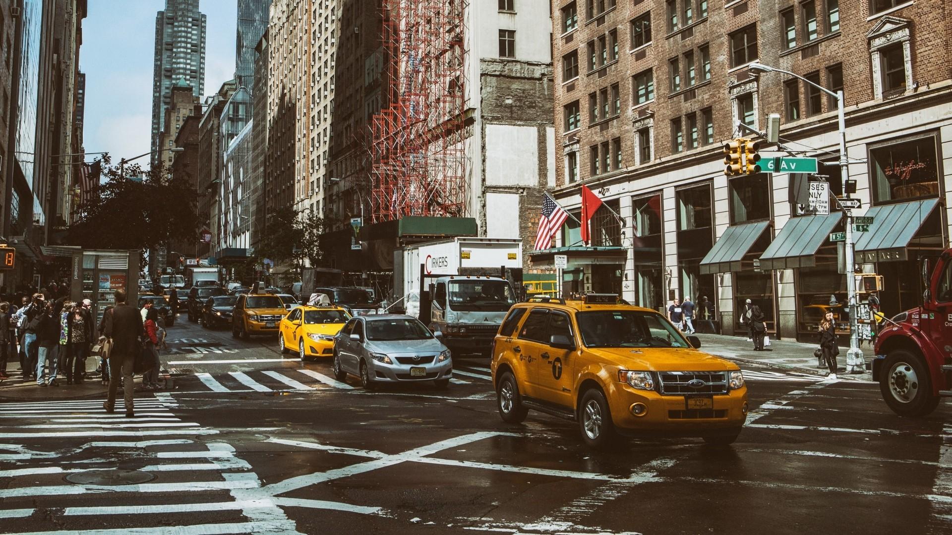 New York Street Background Wallpaper