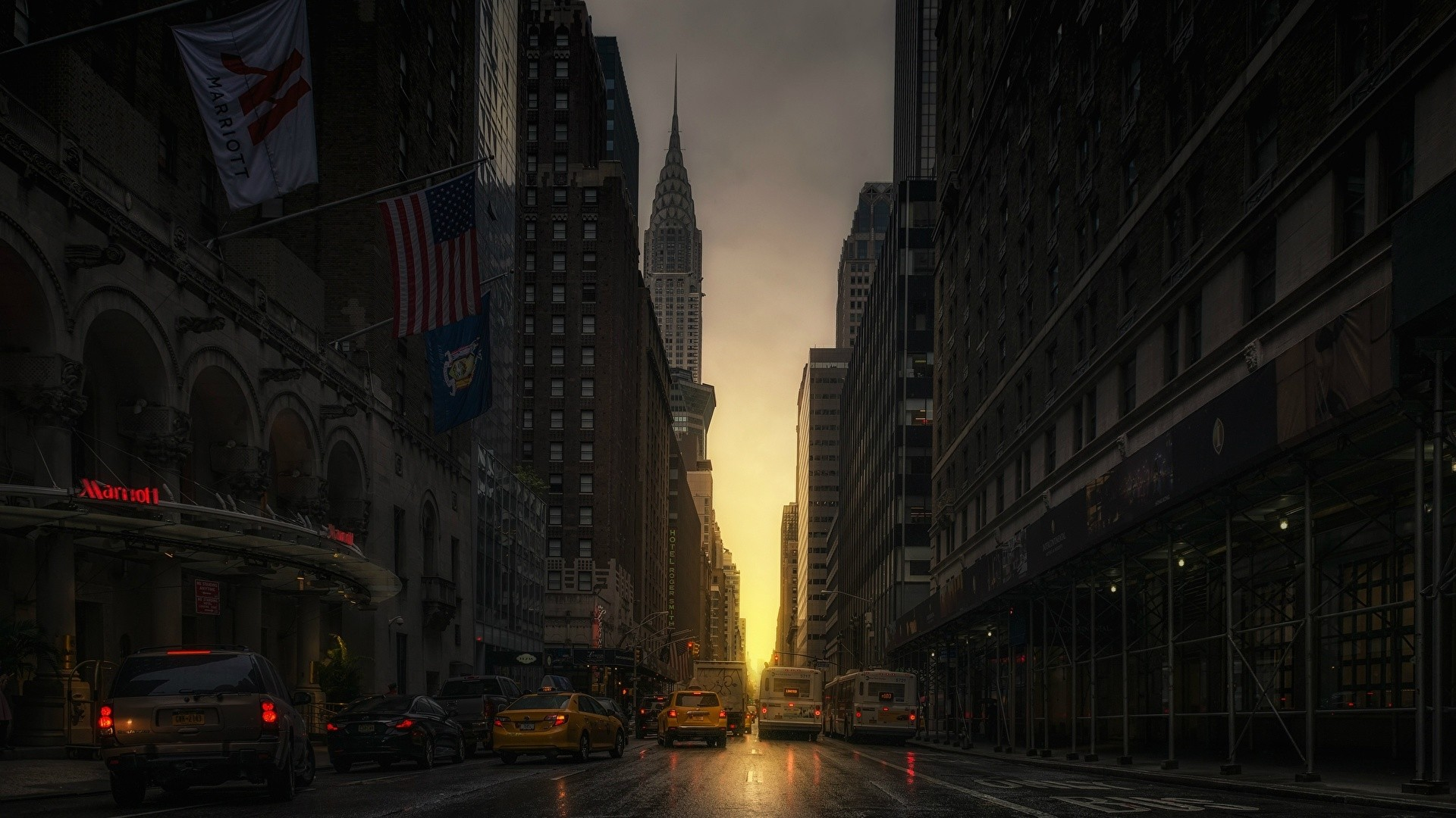 New York Street Wallpaper and Background