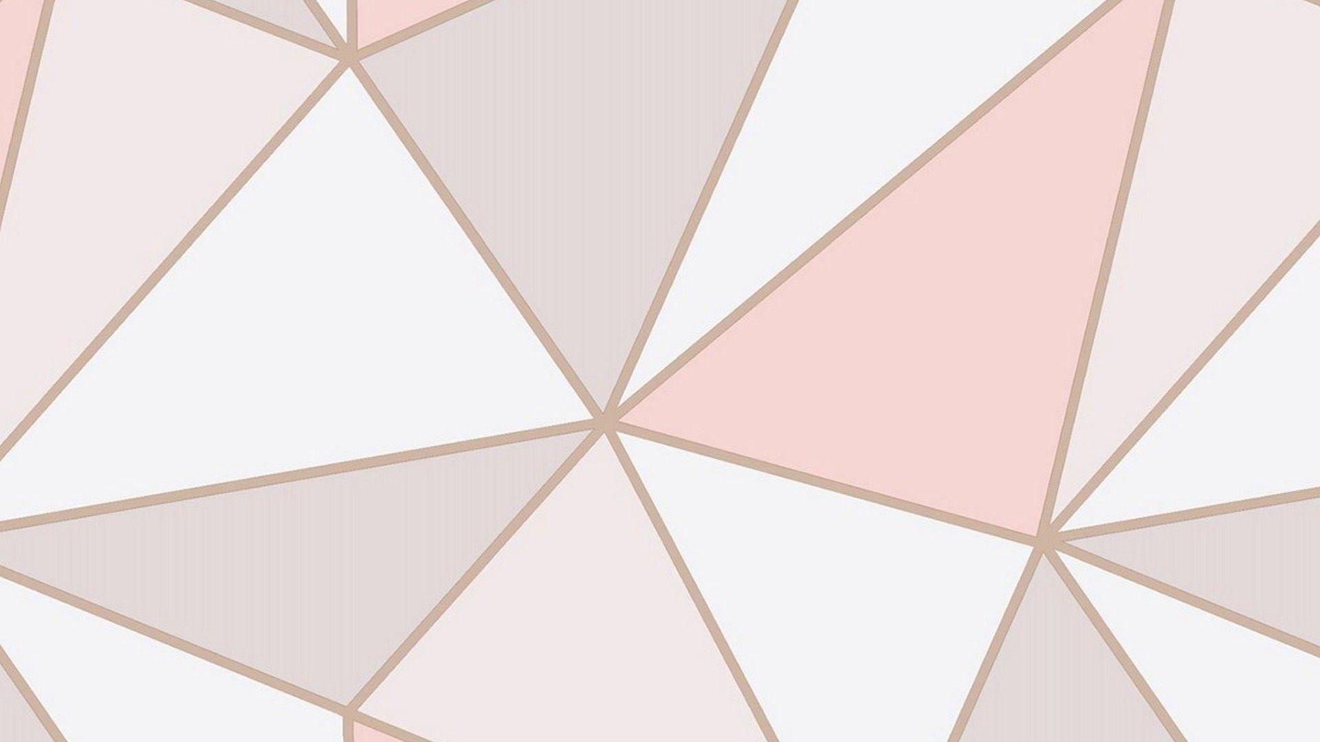 Rose Gold Cute Desktop Wallpaper