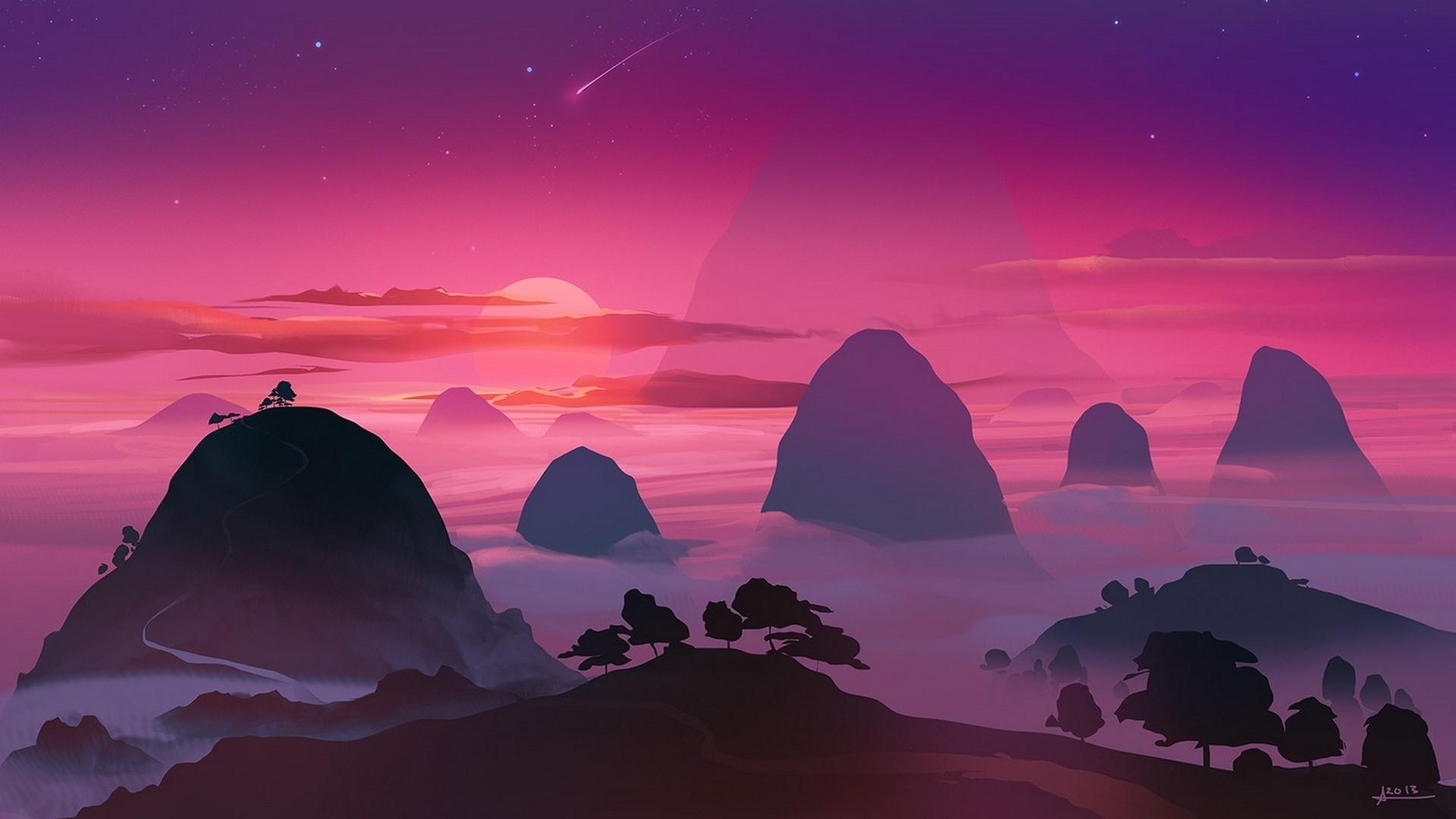 Sky Minimalist Wallpaper image hd