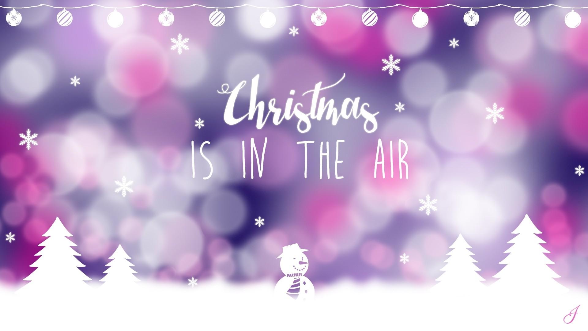 Aesthetic Christmas hd desktop wallpaper