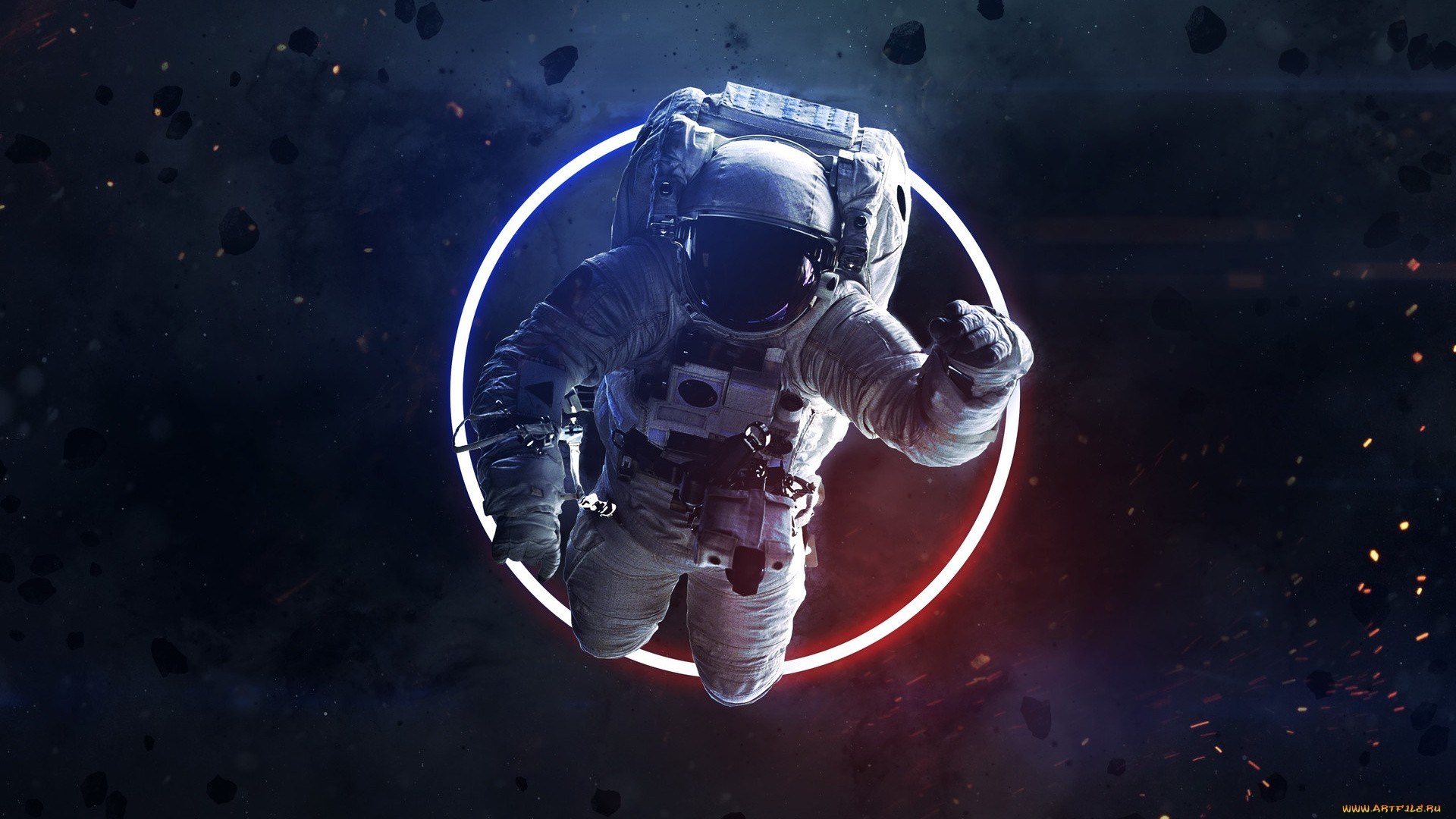 Astronaut Free Wallpaper