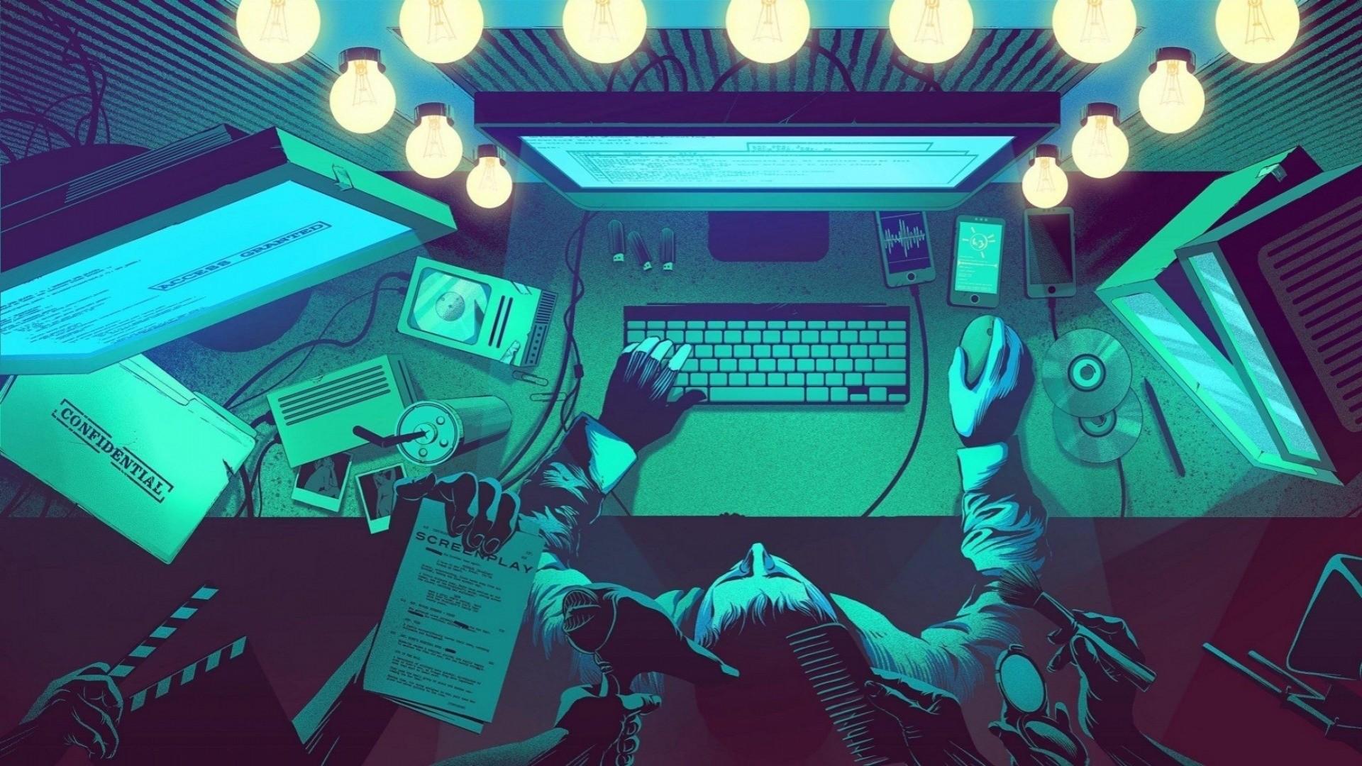 Hacker Desktop wallpaper