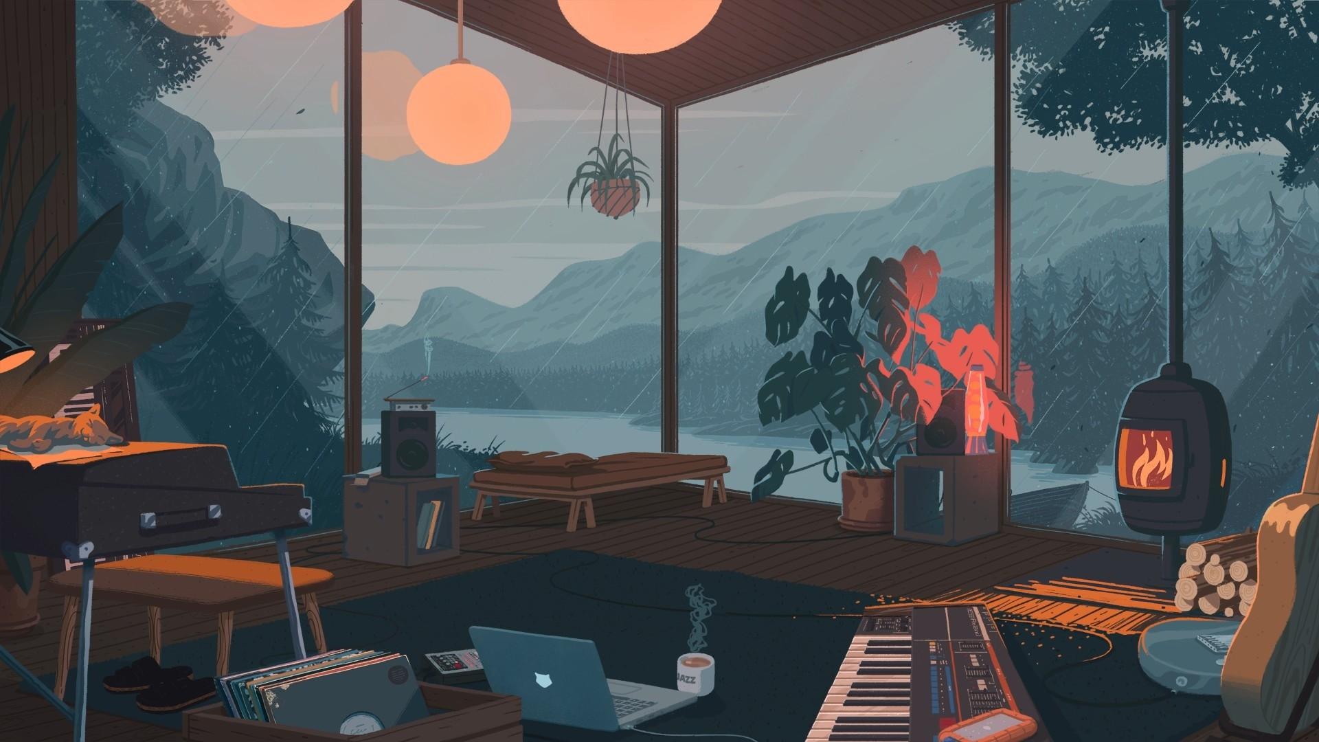 Lo Fi computer wallpaper