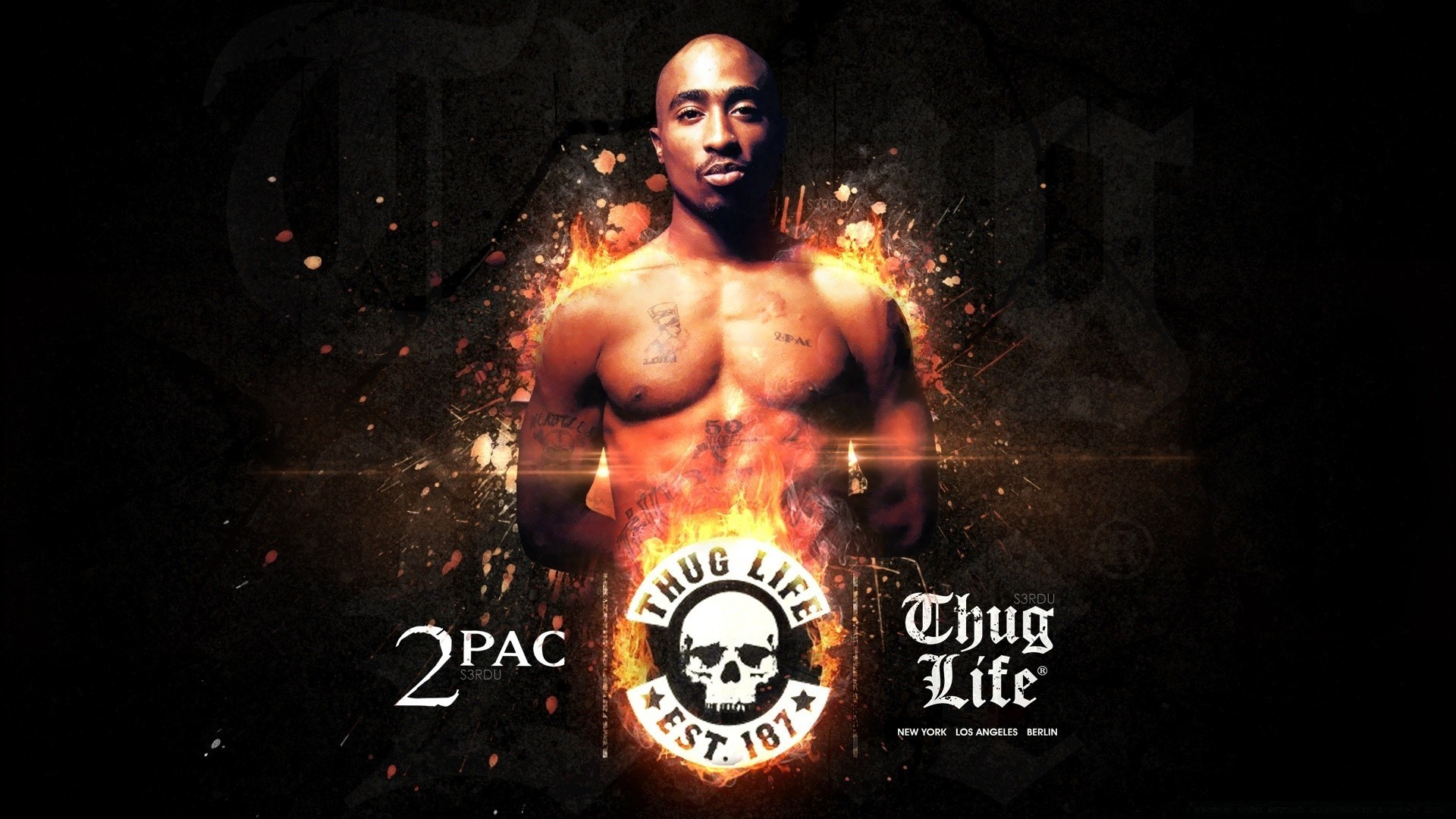 2pac Background Wallpaper