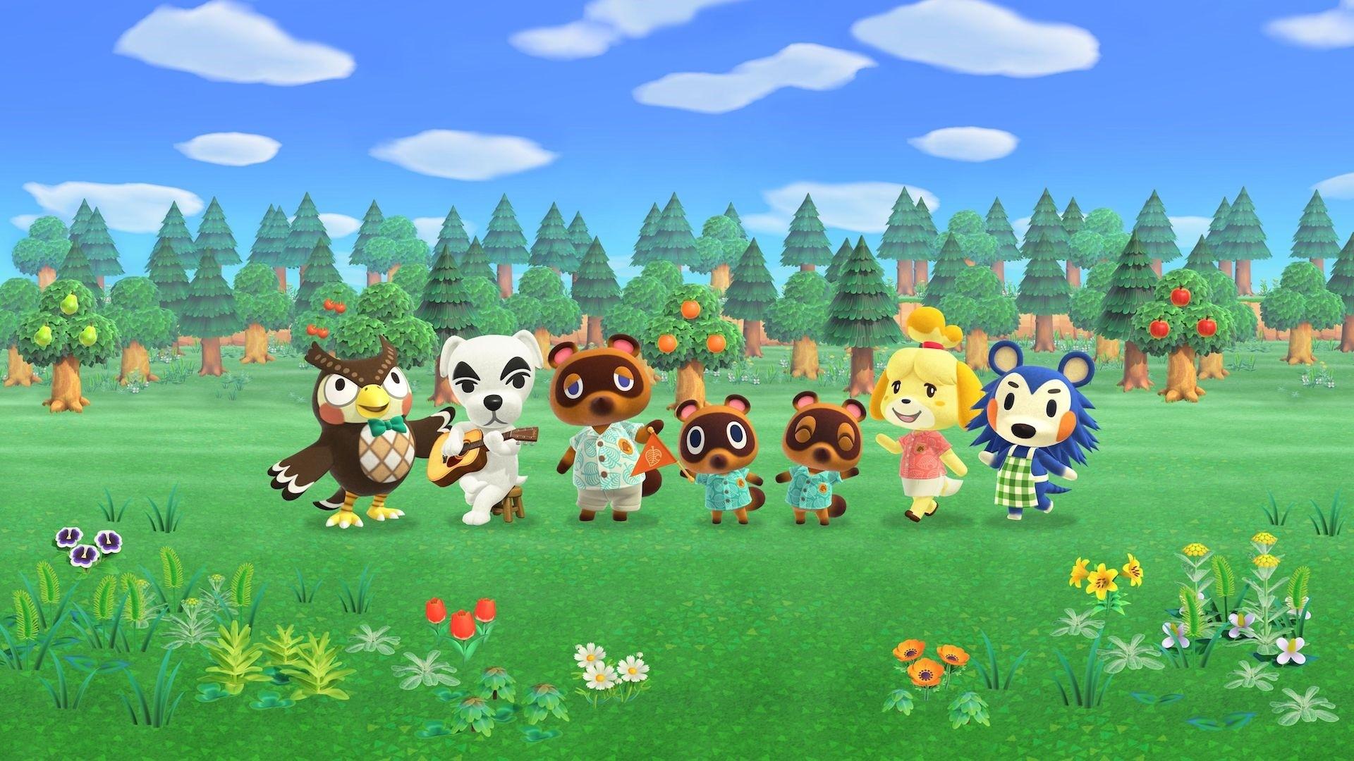 Animal Crossing computer wallpaper