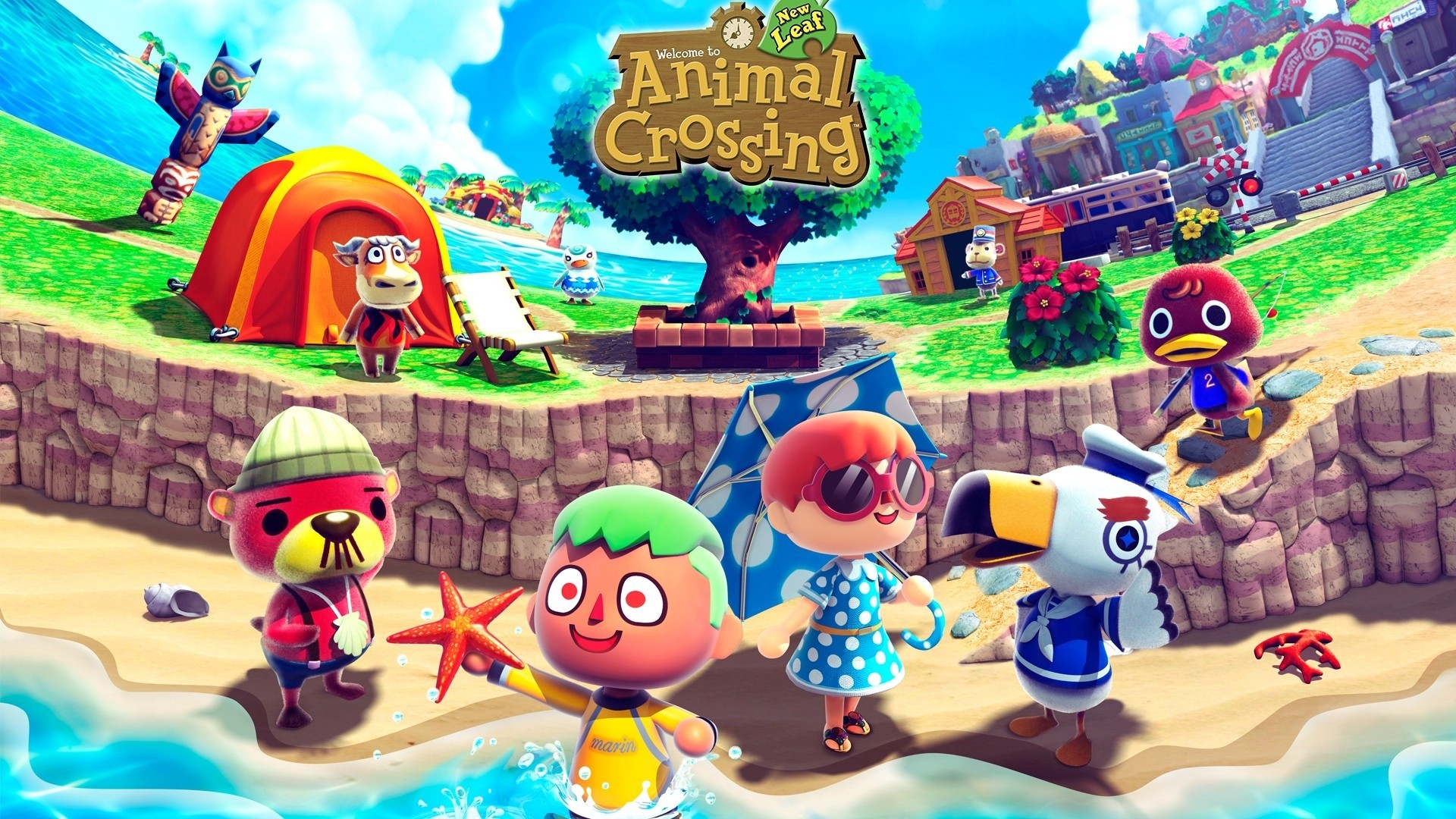 Animal Crossing a wallpaper