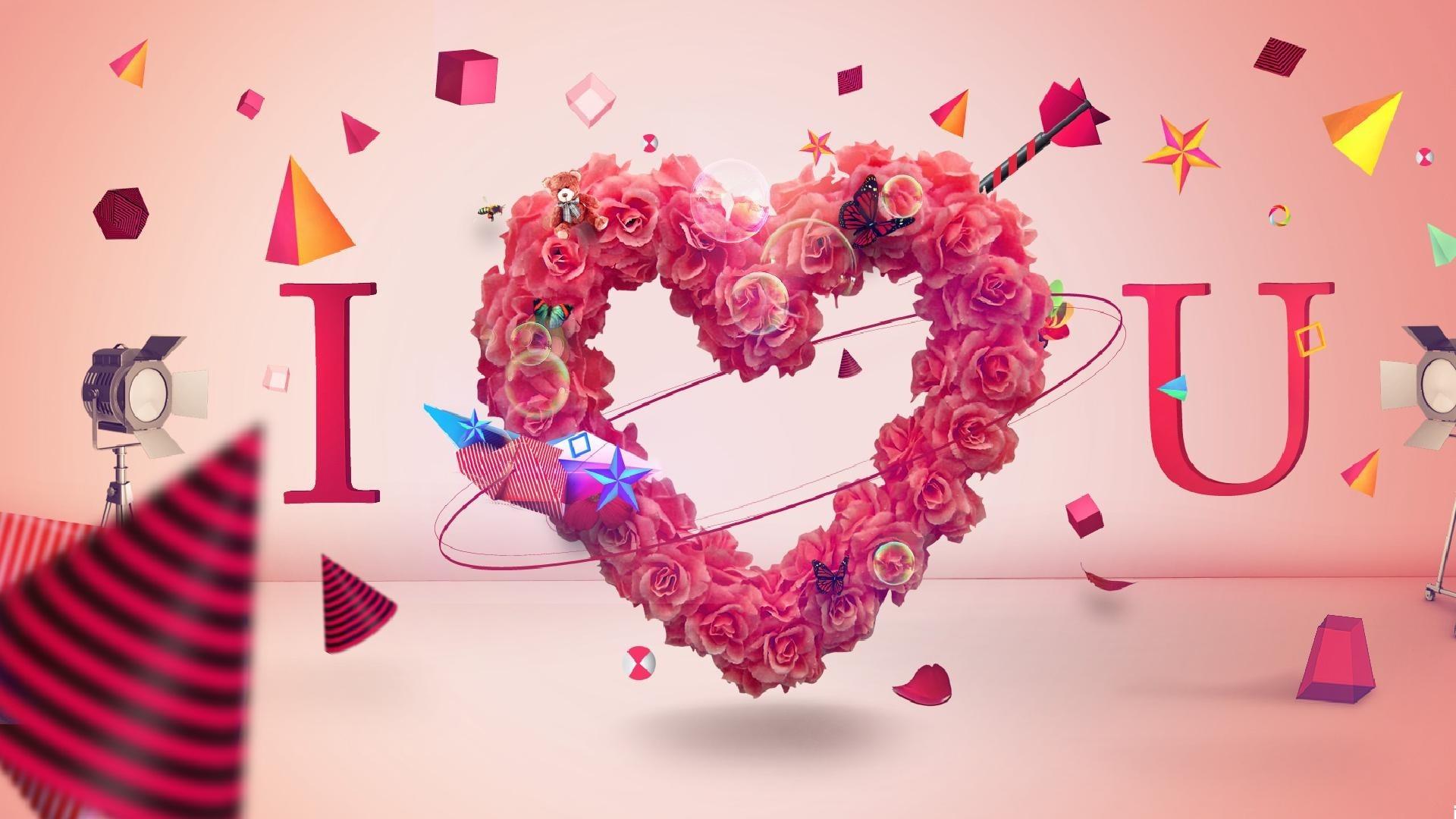 I Love You hd desktop wallpaper