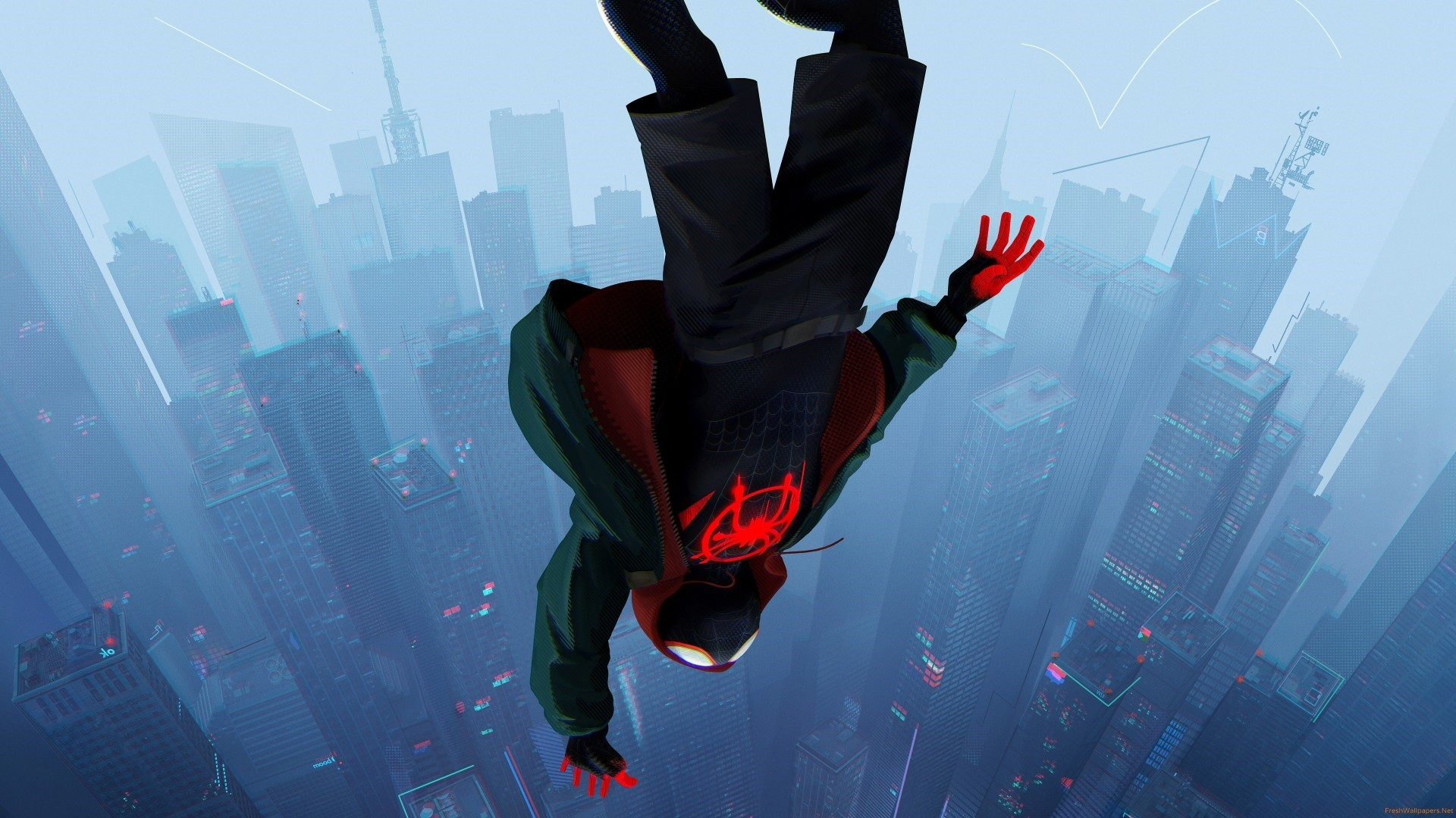 Into The Spider Verse Full HD Wallpaper