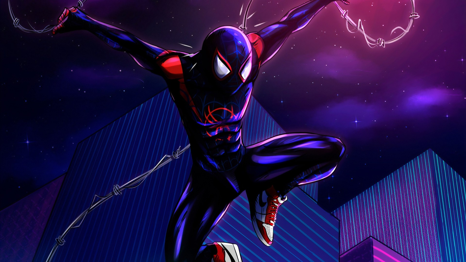 Into The Spider Verse Free Wallpaper and Background