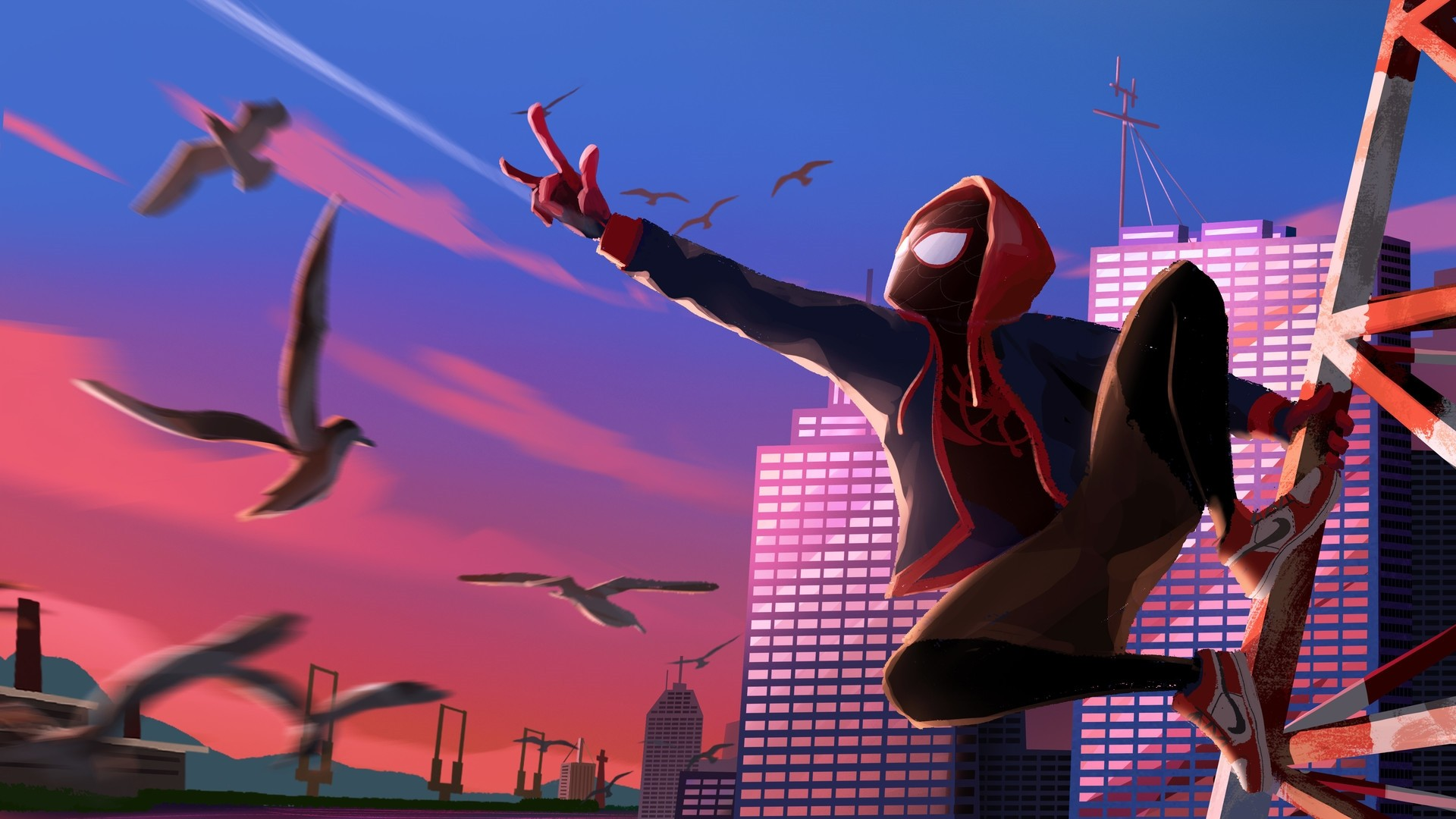 Into The Spider Verse hd wallpaper download