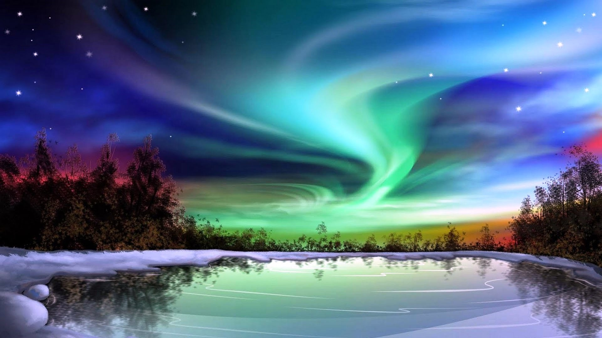 Northern Lights Free Wallpaper and Background