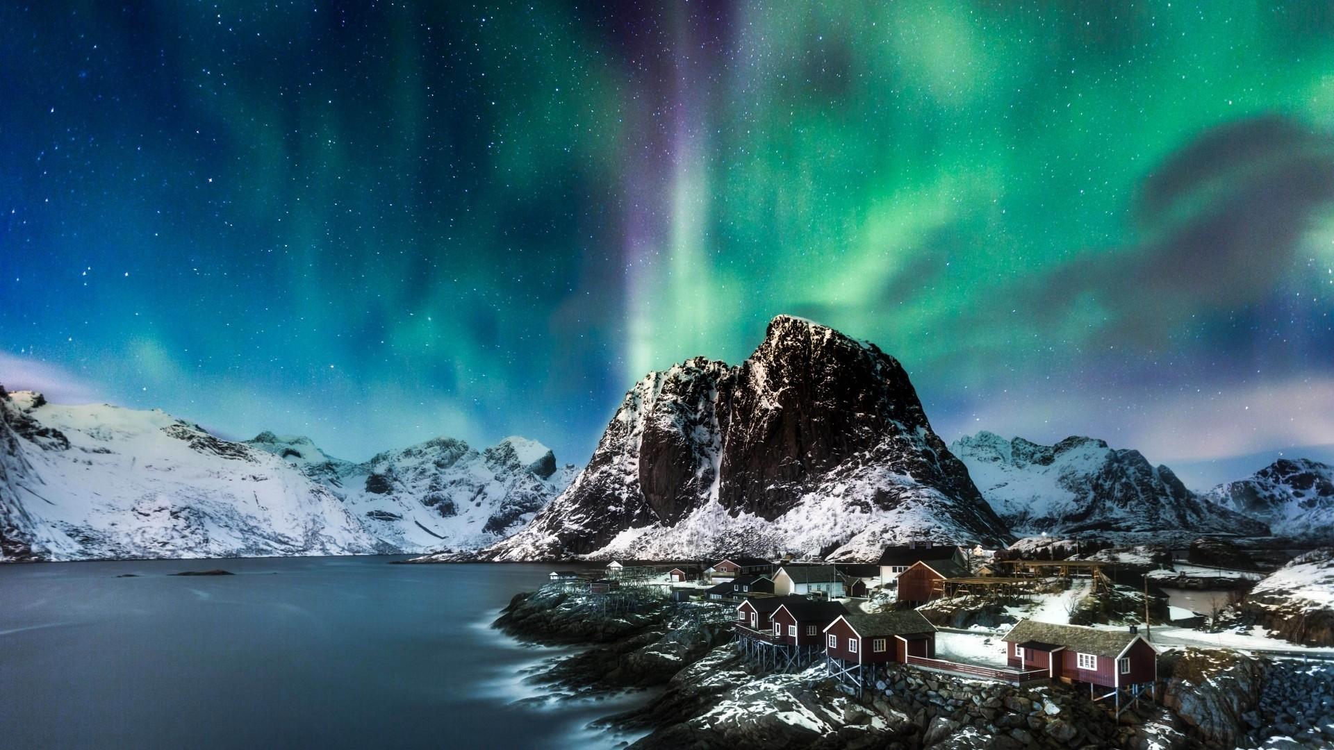 Northern Lights computer wallpaper