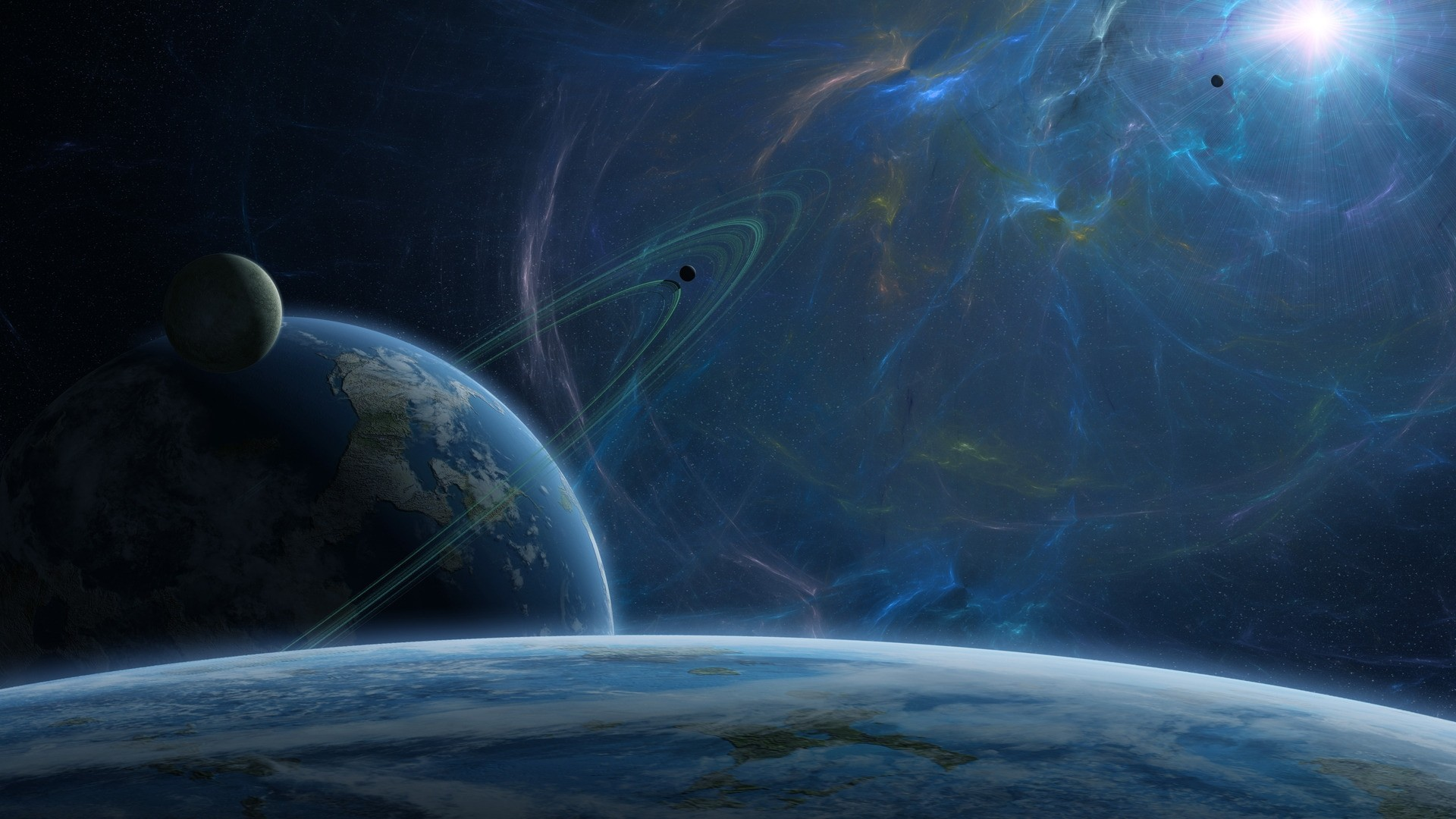 Outer Space Full HD Wallpaper