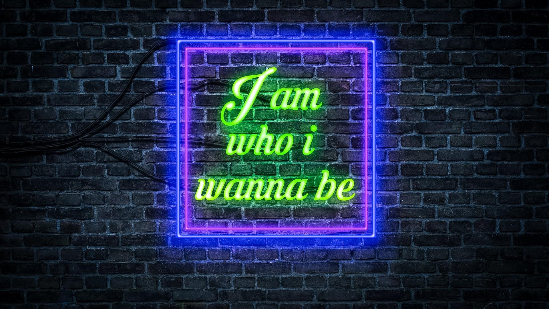 Neon Sign PC Wallpaper HD