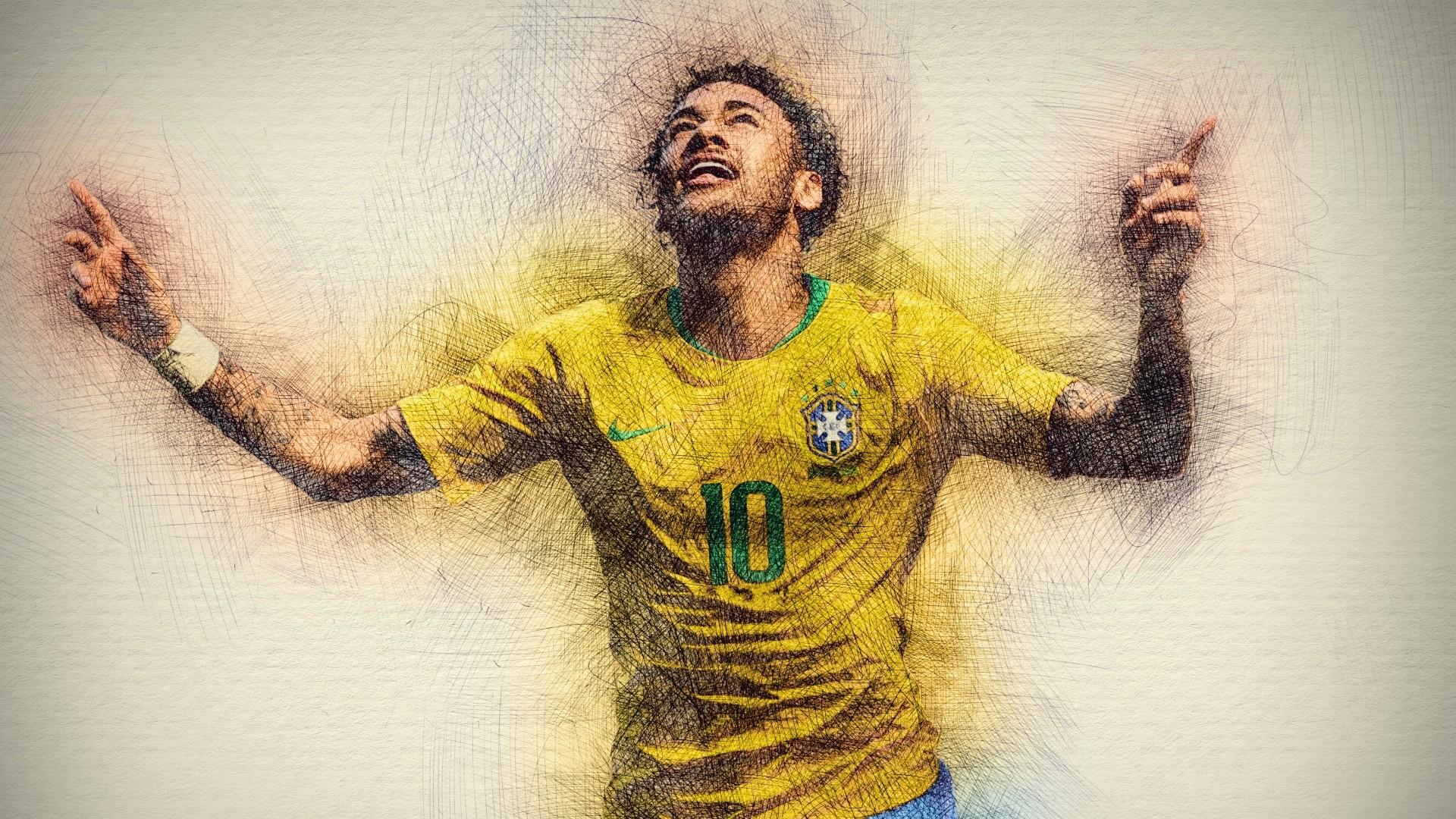 Neymar Background Wallpaper