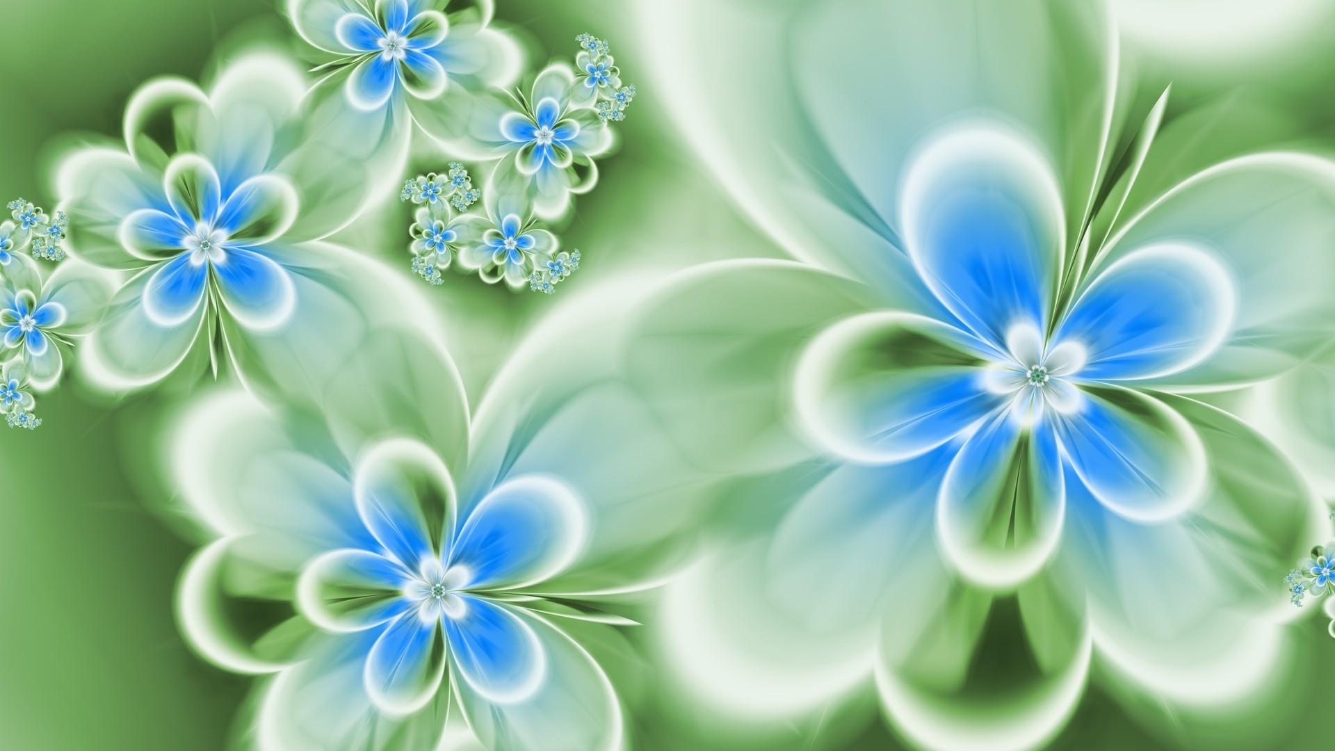 Blue Flower computer wallpaper