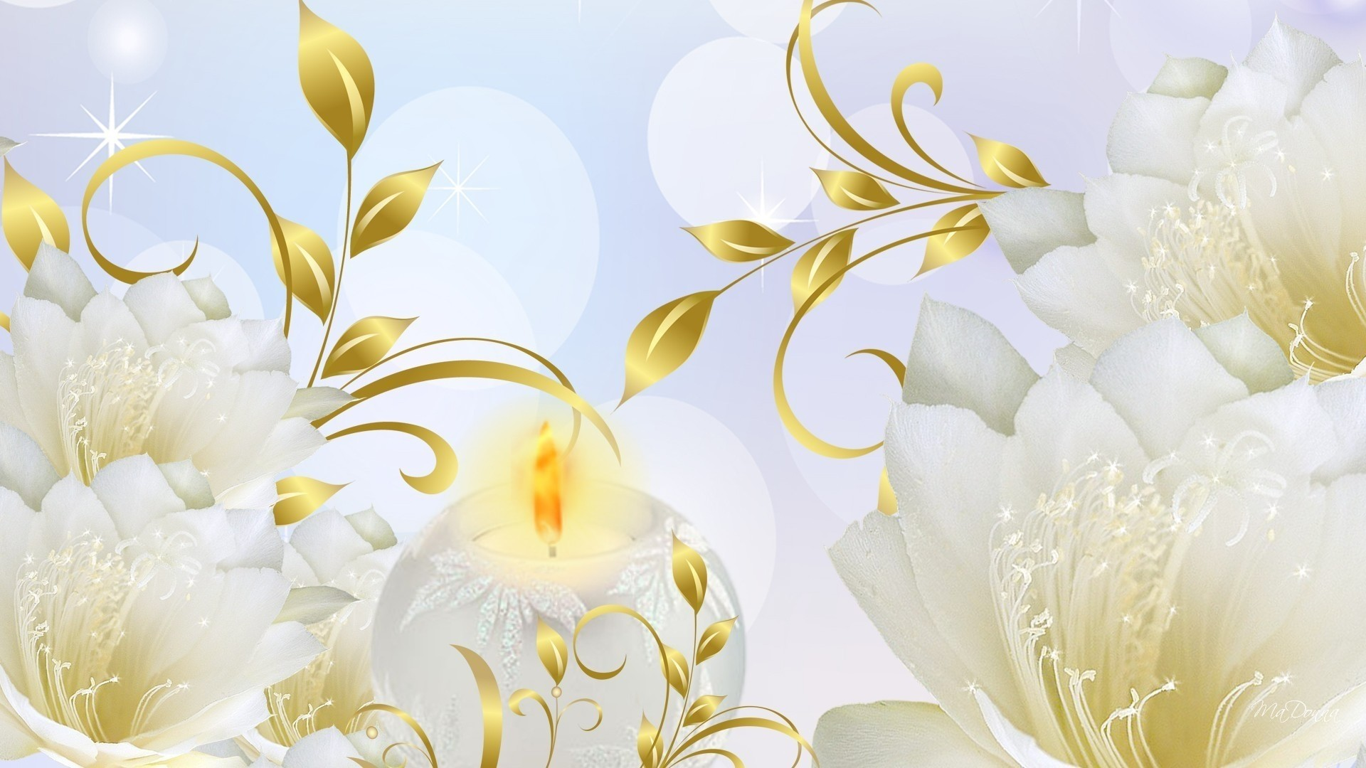 White And Gold hd wallpaper download