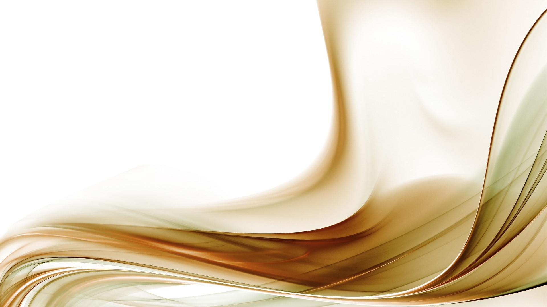 White And Gold Full HD Wallpaper