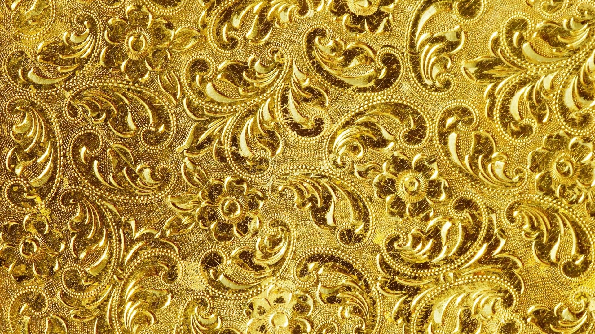 White And Gold Wallpaper and Background