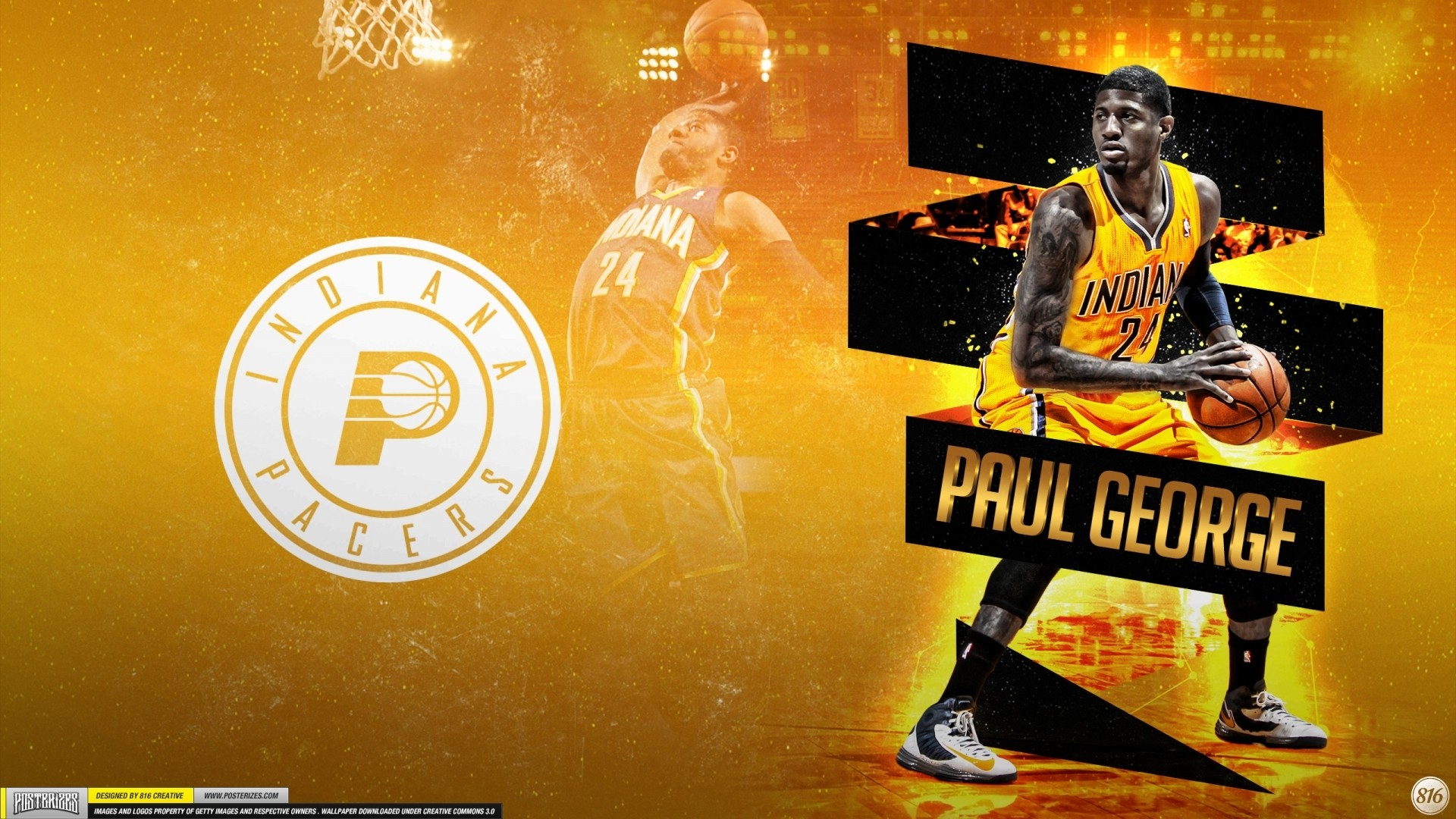 Paul George hd desktop wallpaper