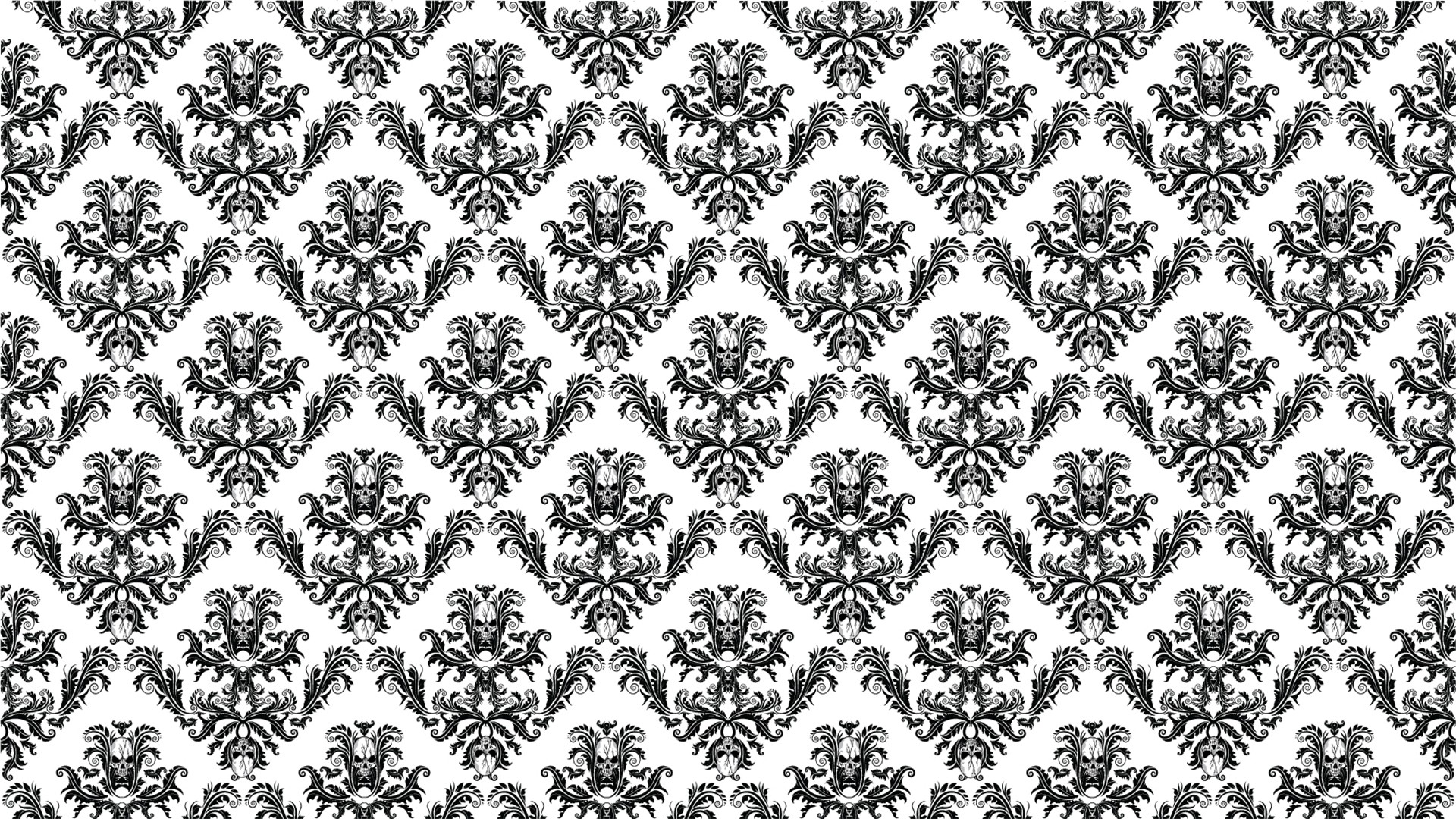 Black And White Floral PC Wallpaper