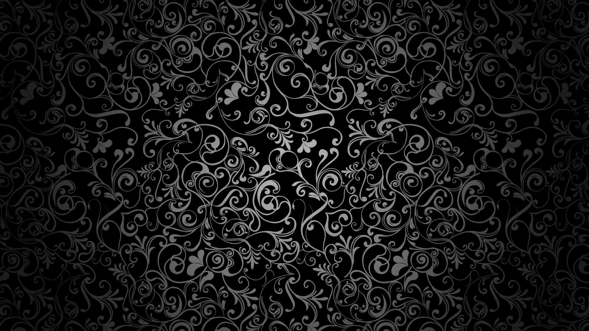 Black And White Floral Desktop Wallpaper
