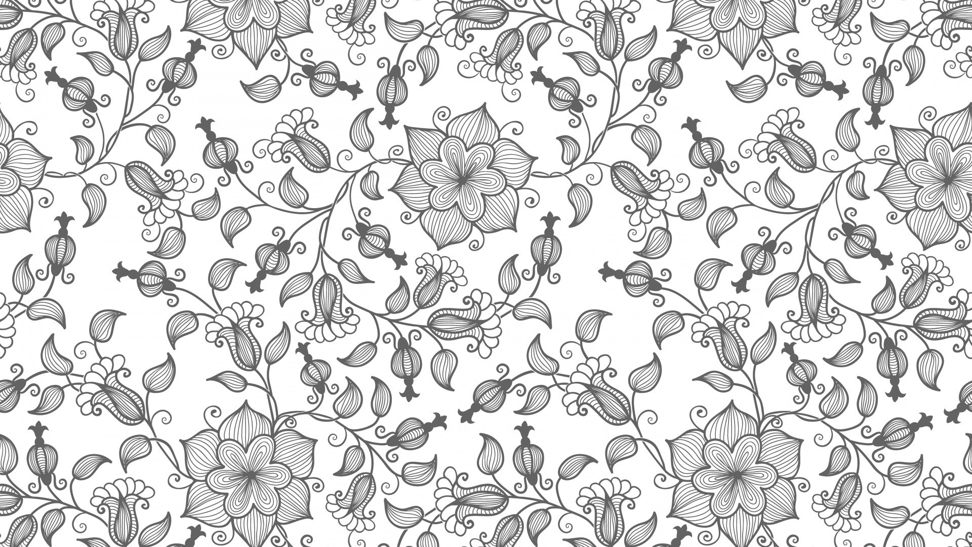 Black And White Floral hd wallpaper download