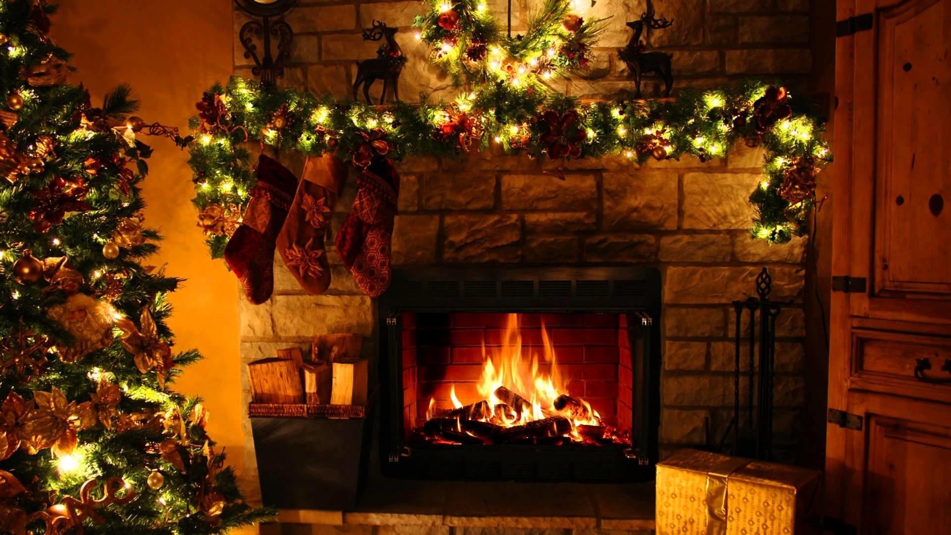 Fireplace hd desktop wallpaper