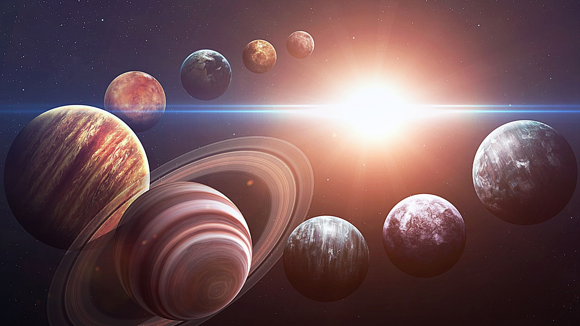 Solar System Free Wallpaper and Background