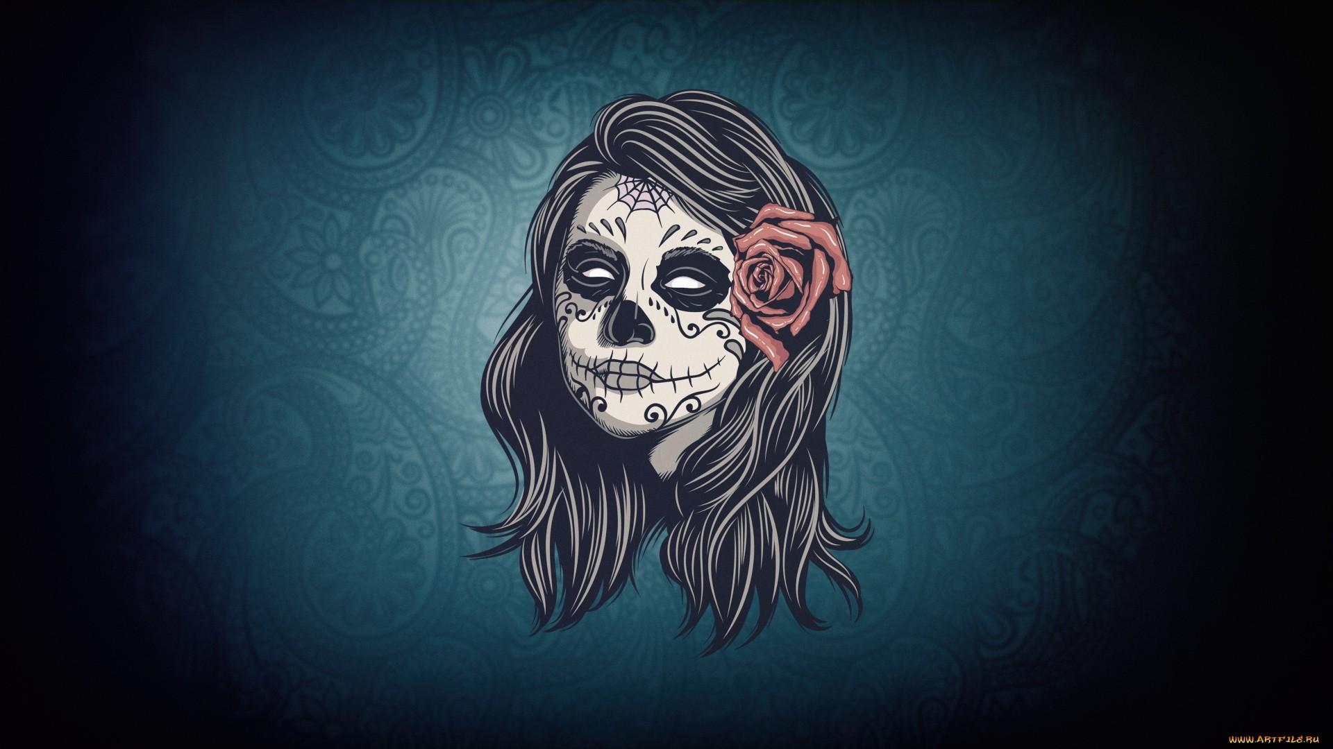 Sugar Skull PC Wallpaper
