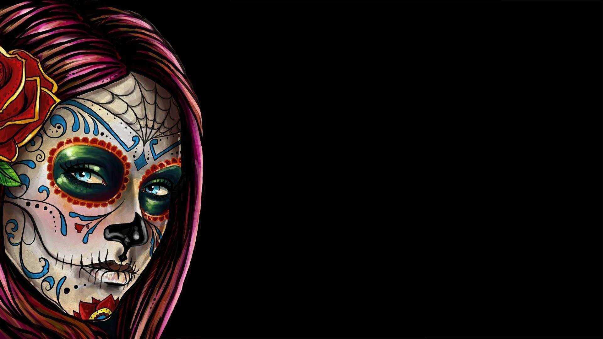 Sugar Skull computer wallpaper