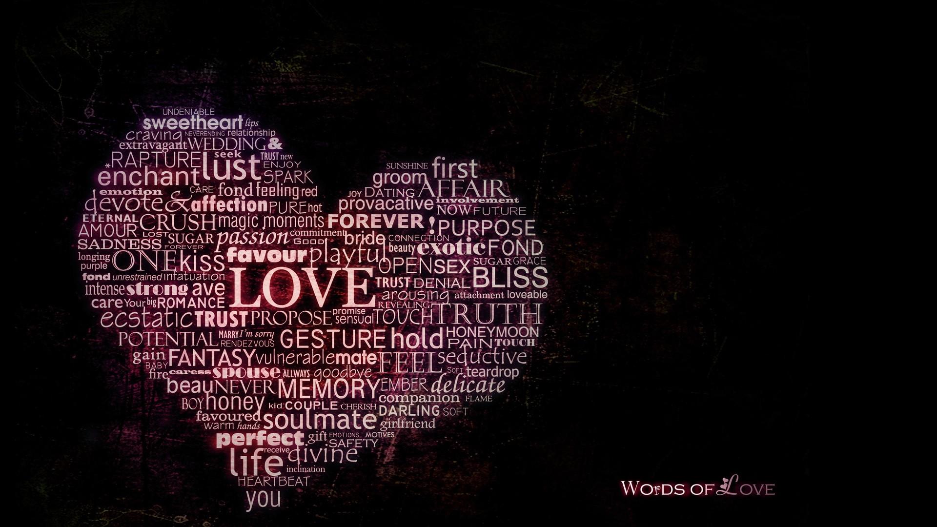 With Words hd desktop wallpaper