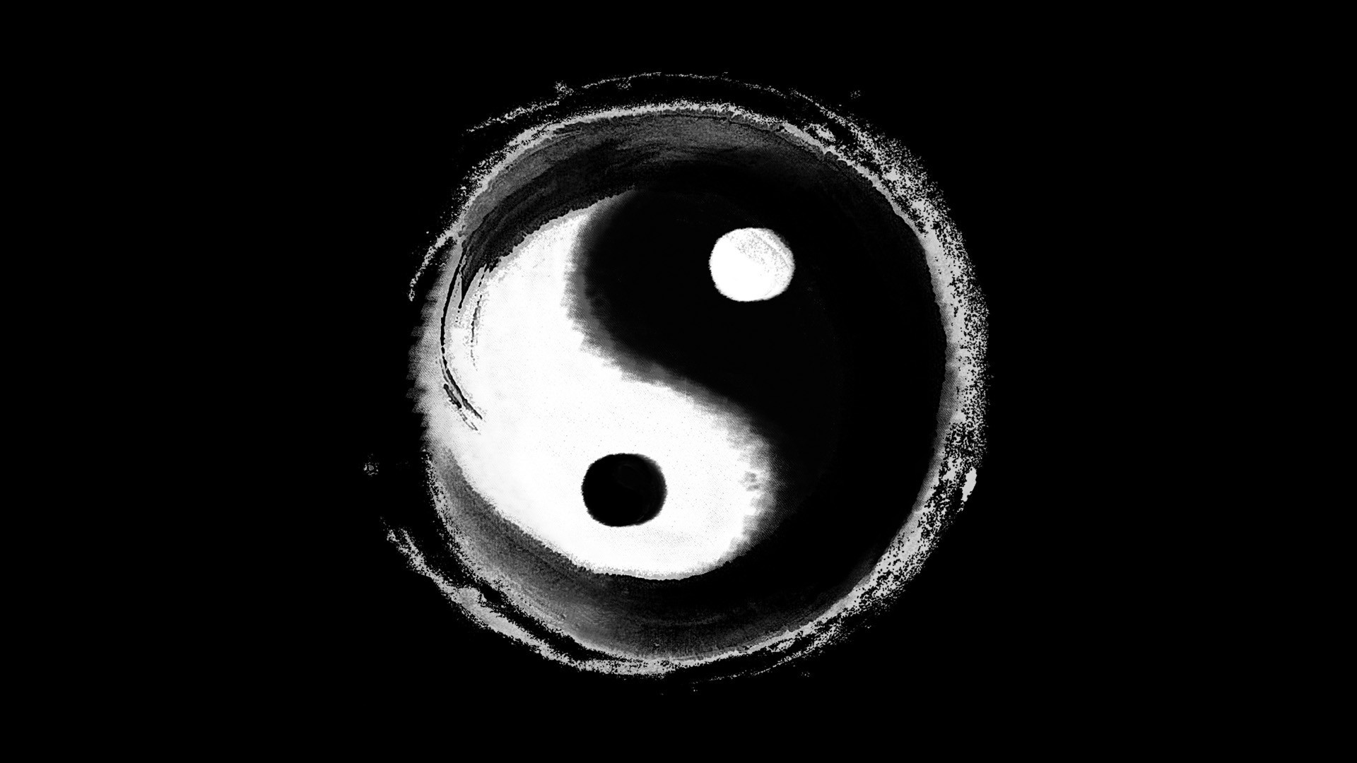 Yin Yang Wallpaper theme