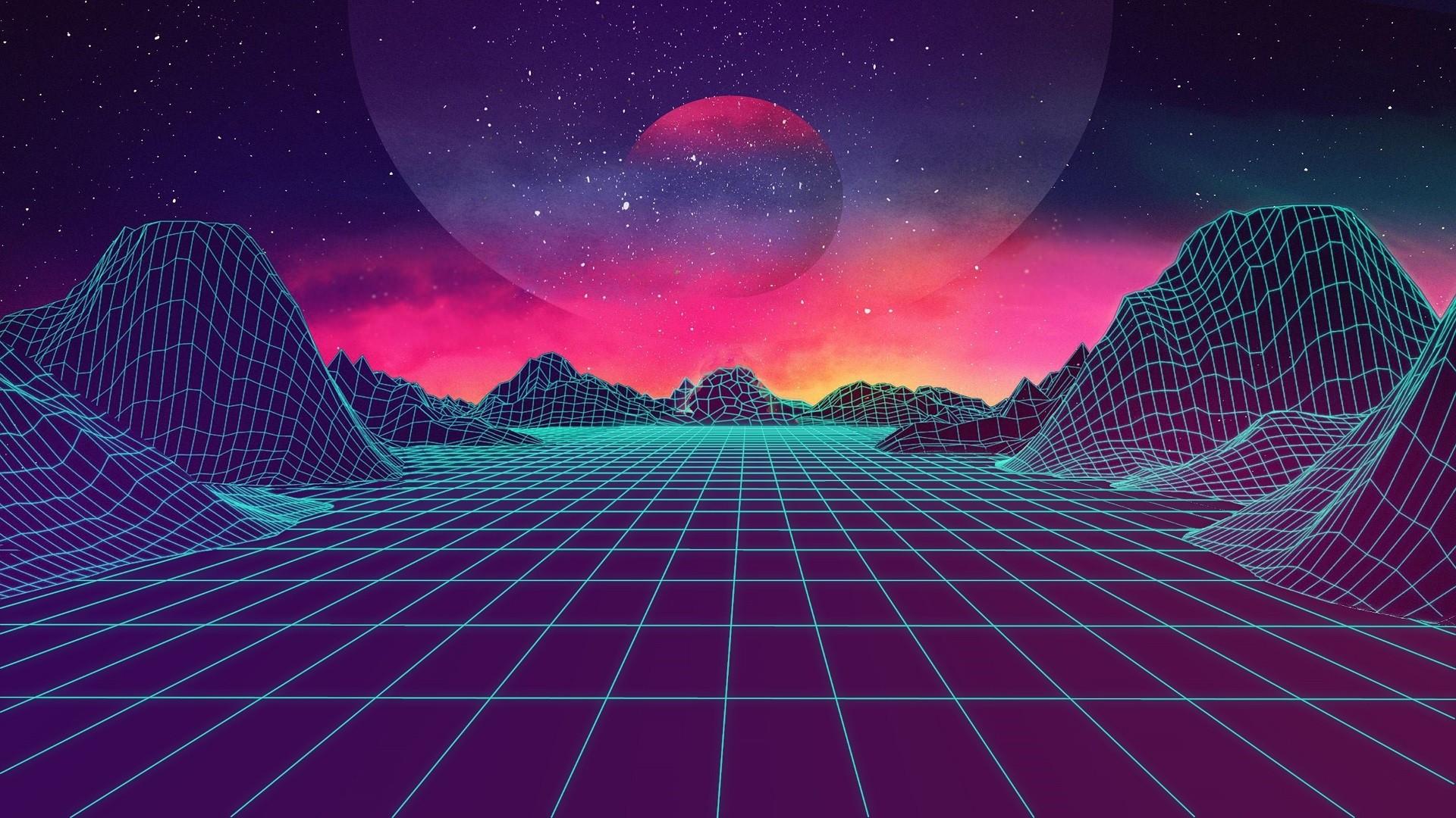 Aesthetic Retro Background