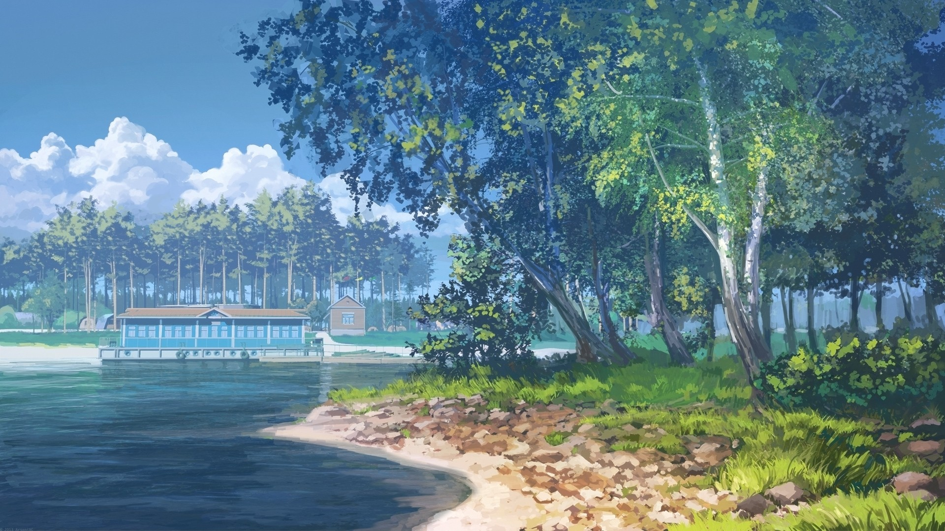 Anime Scenery Free Wallpaper and Background
