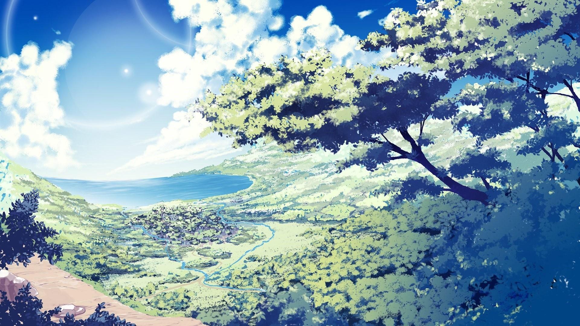 Anime Scenery hd desktop wallpaper