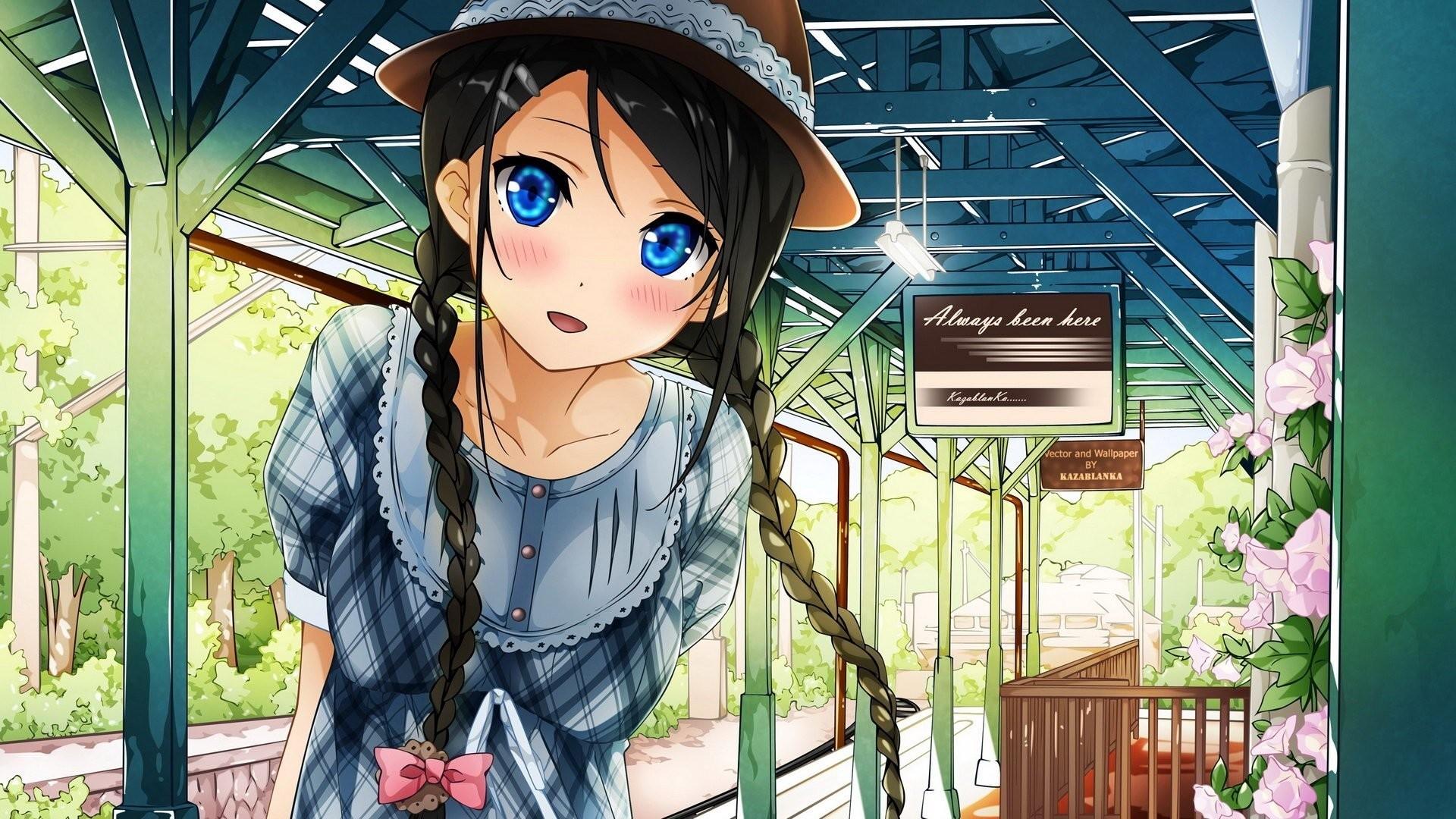 Cute Anime Girl Background
